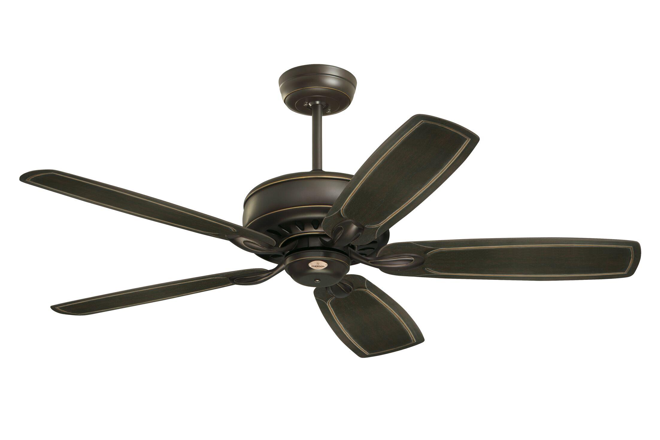 Huemiller 5 Blade Ceiling Fan with Remote Blade Finish: Golden Espresso, Housing Finish: Golden Espresso