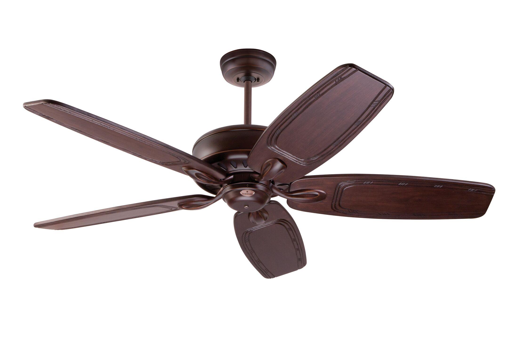 Huemiller 5 Blade Ceiling Fan with Remote Blade Finish: Venetian Bronze, Housing Finish: Venetian Bronze