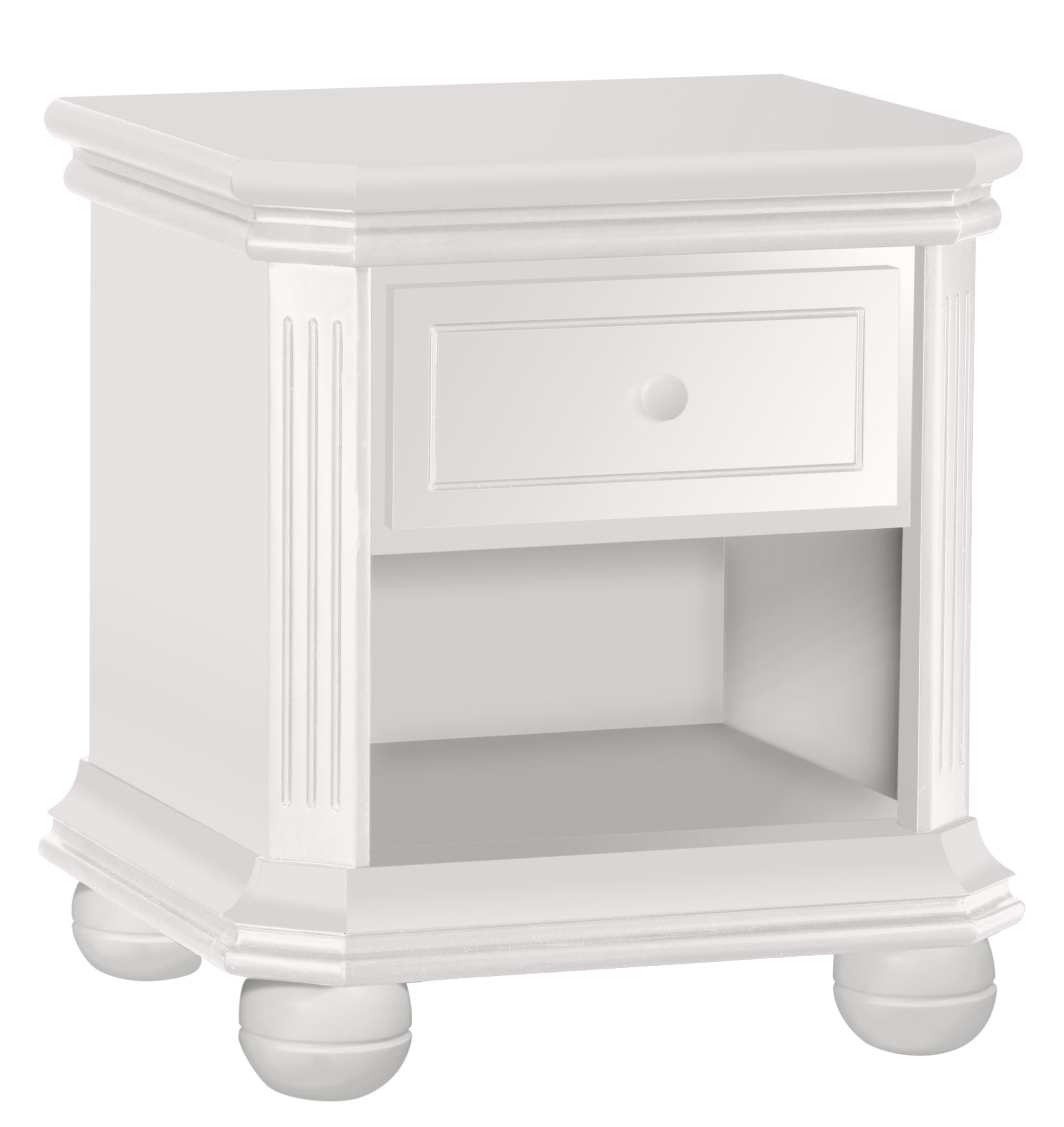 Vista 1 Drawer Nightstand Color: White