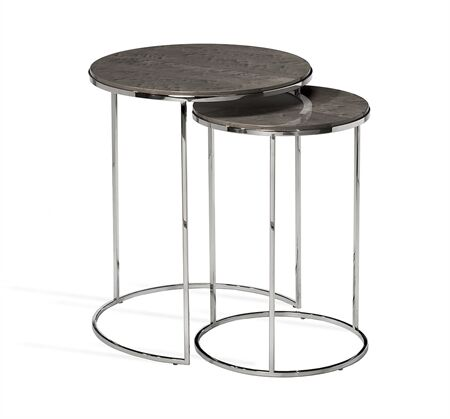 Jax 2 Piece Nesting Tables Table Top Color: Maple