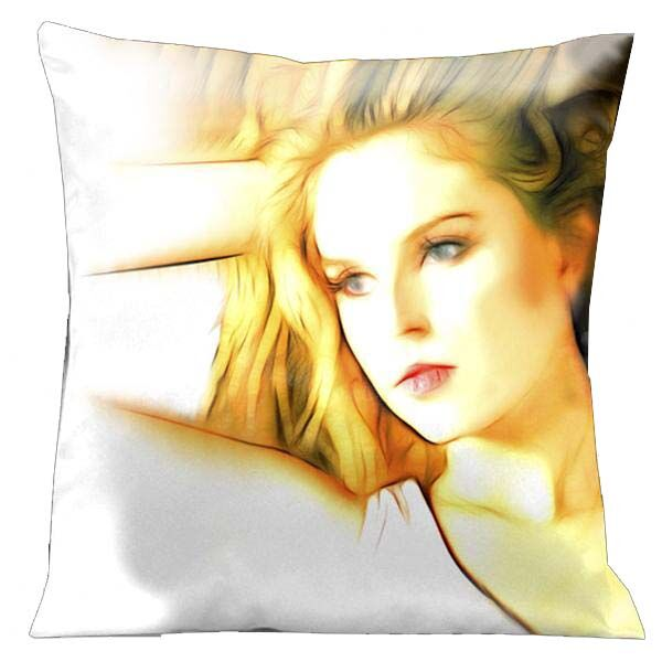Contempo Portrait of a Young Woman Throw Pillow