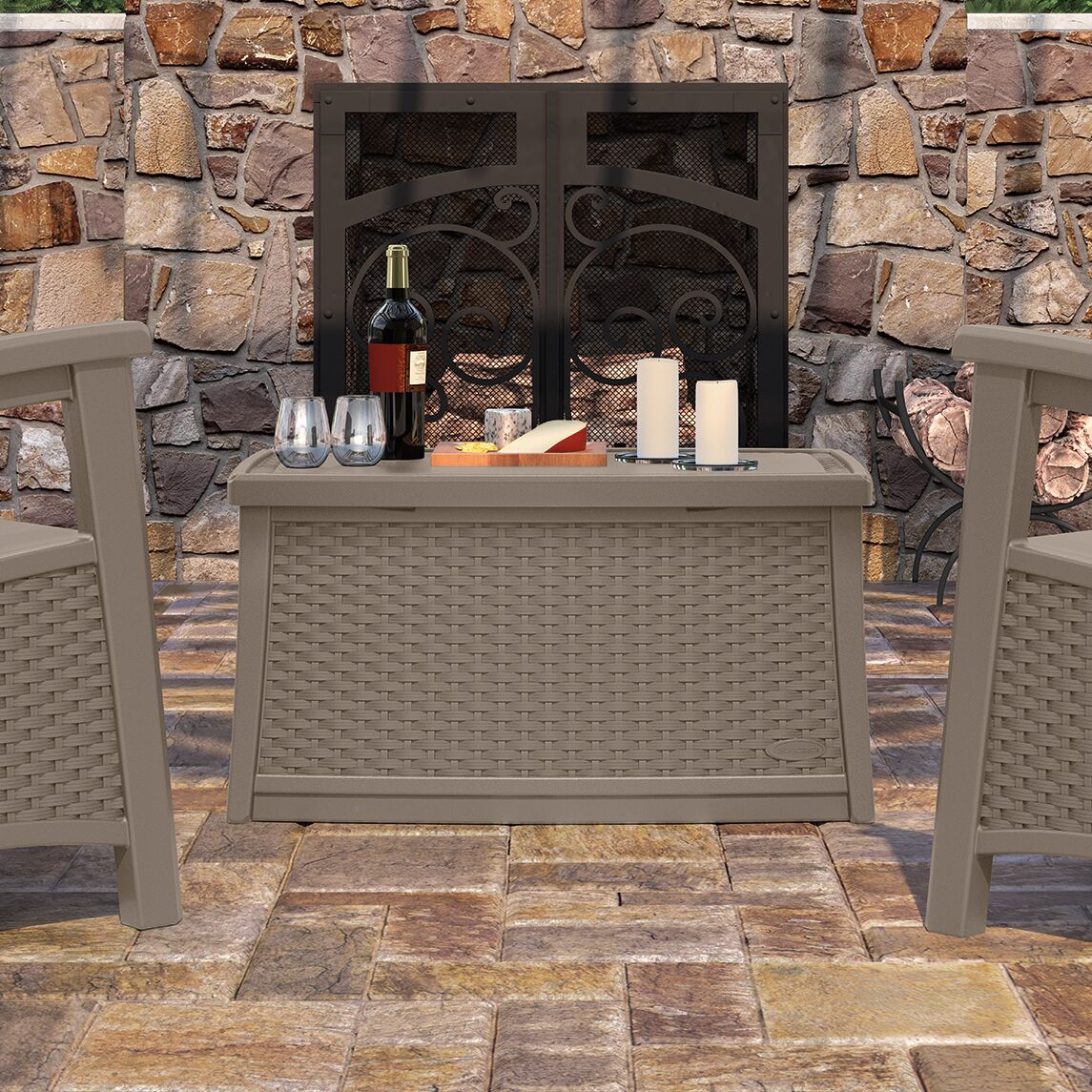 Deck Storage Coffee Table Finish: Dark Taupe