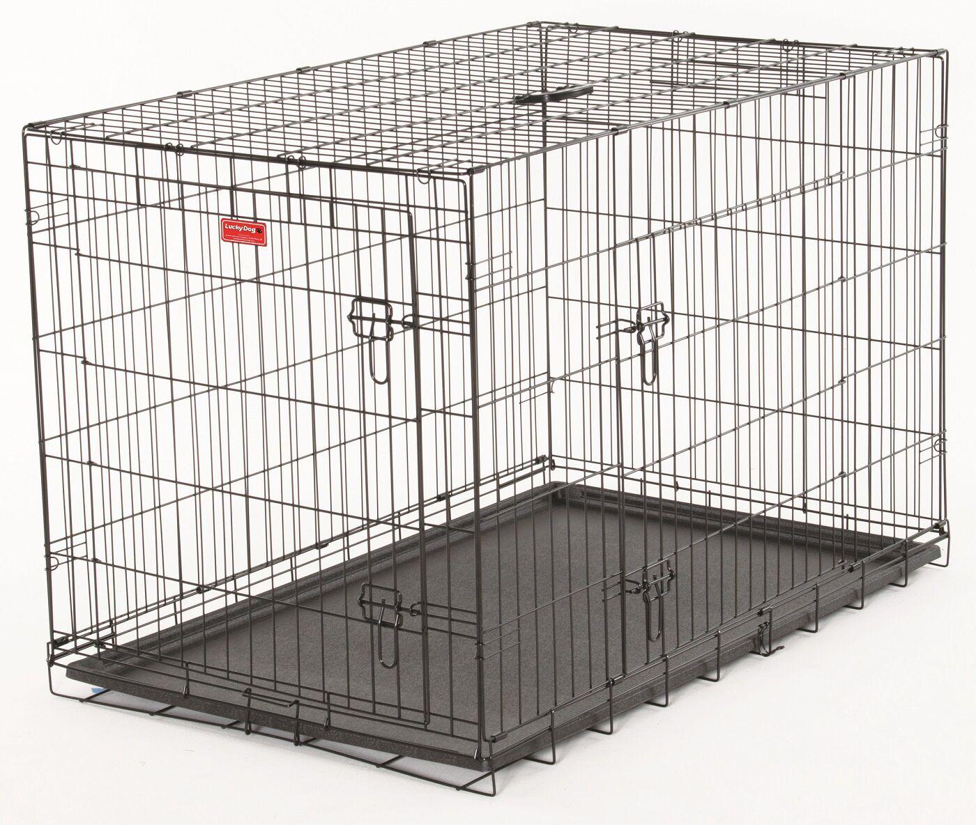 Quincy Lucky Dog 2 Door Training Crate Size: 33