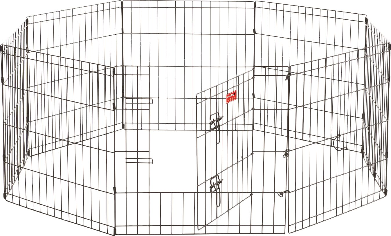 Lucky Dog 8 Panel Hd Dog Pen Size: 24
