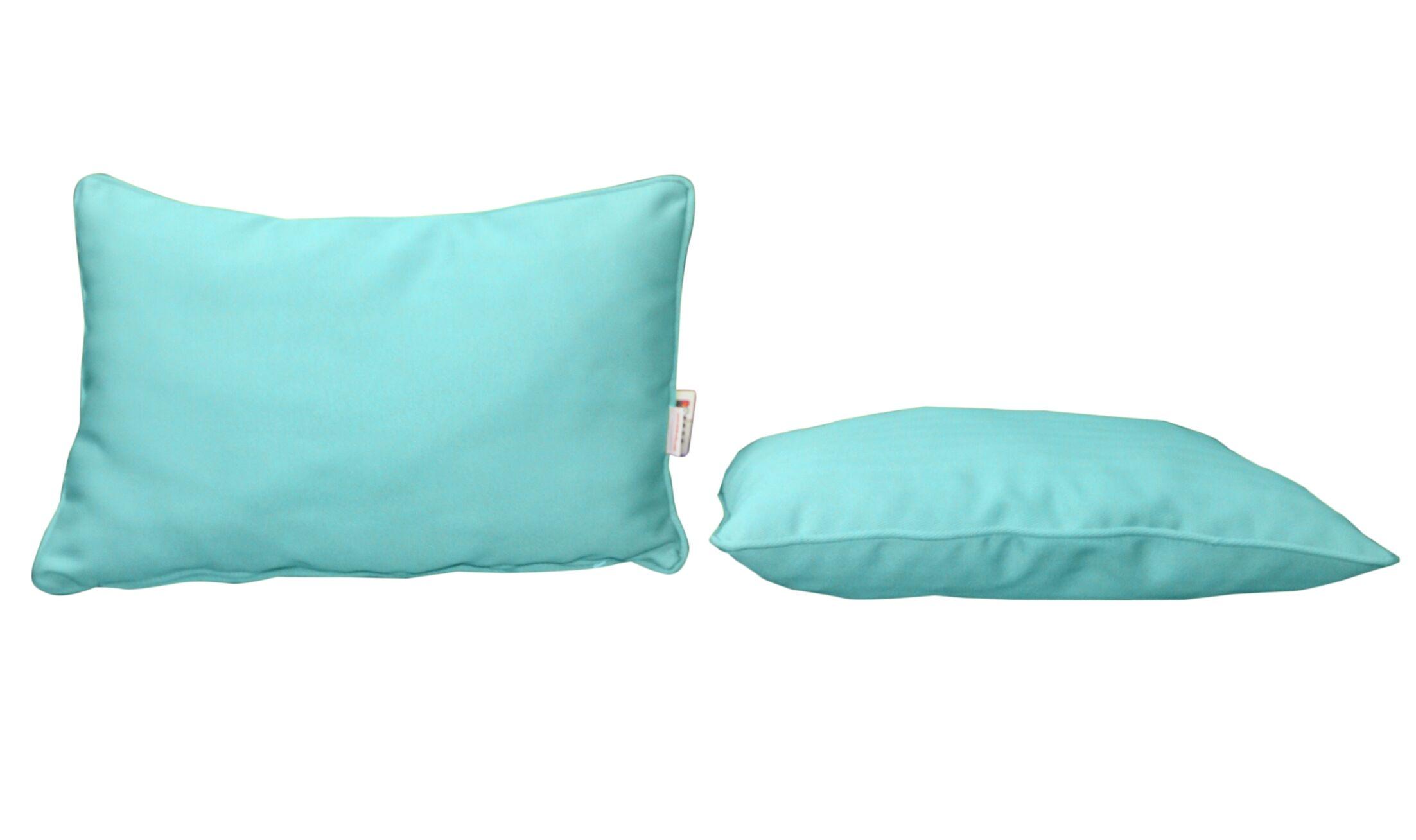 Outdoor Sunbrella Lumbar Pillow Color: Canvas Aruba