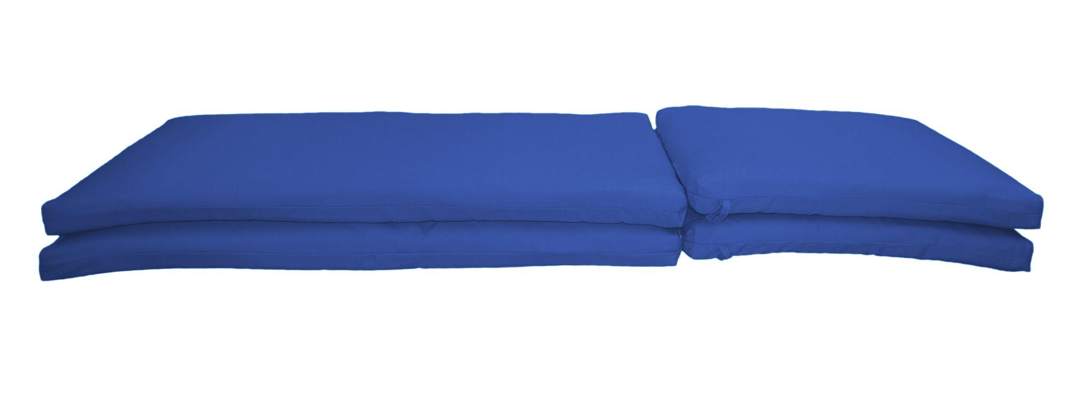 Indoor/Outdoor Sunbrella Chaise Lounge Chair Cushion Fabric: Canvas True Blue