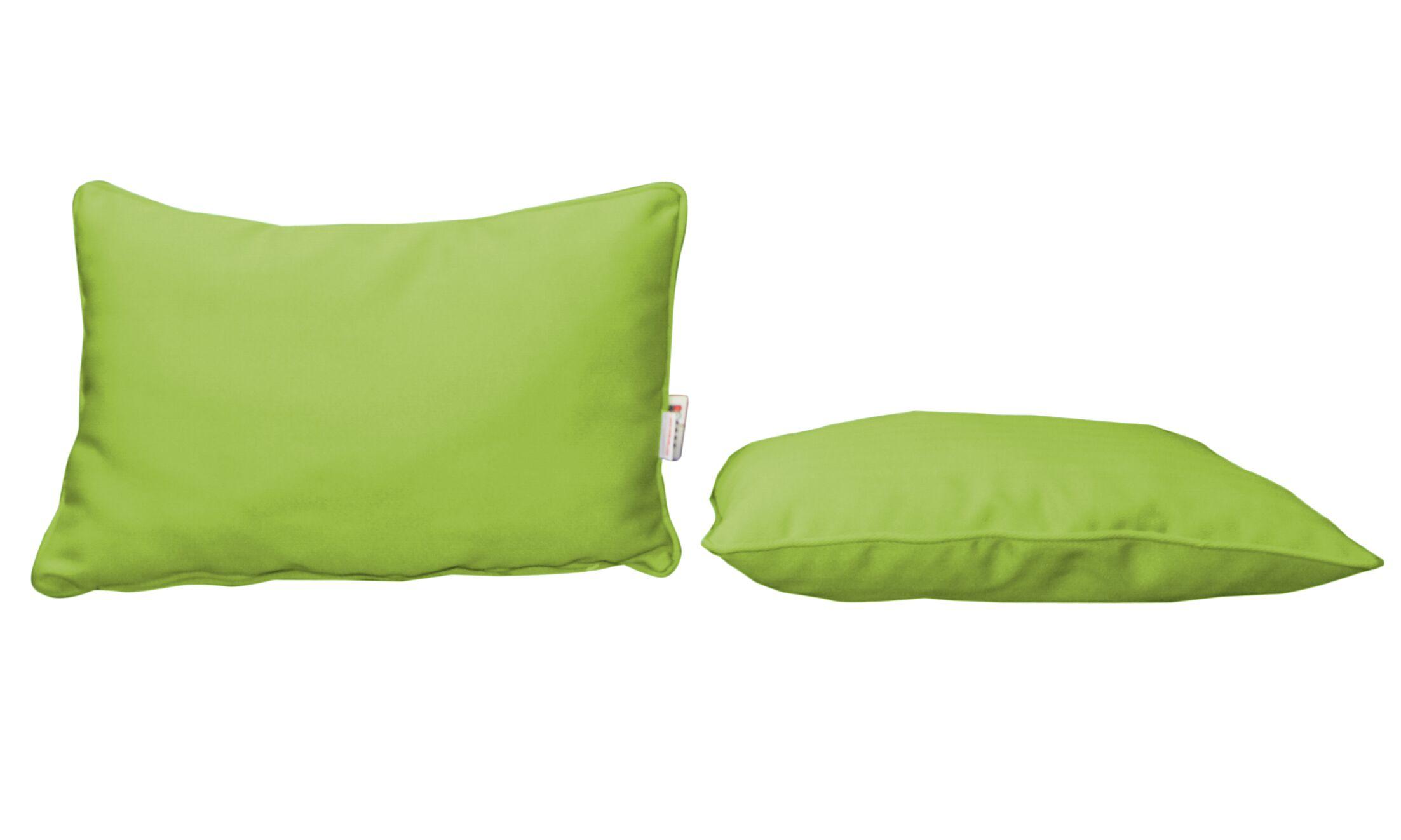 Outdoor Sunbrella Lumbar Pillow Color: Canvas Ginkgo