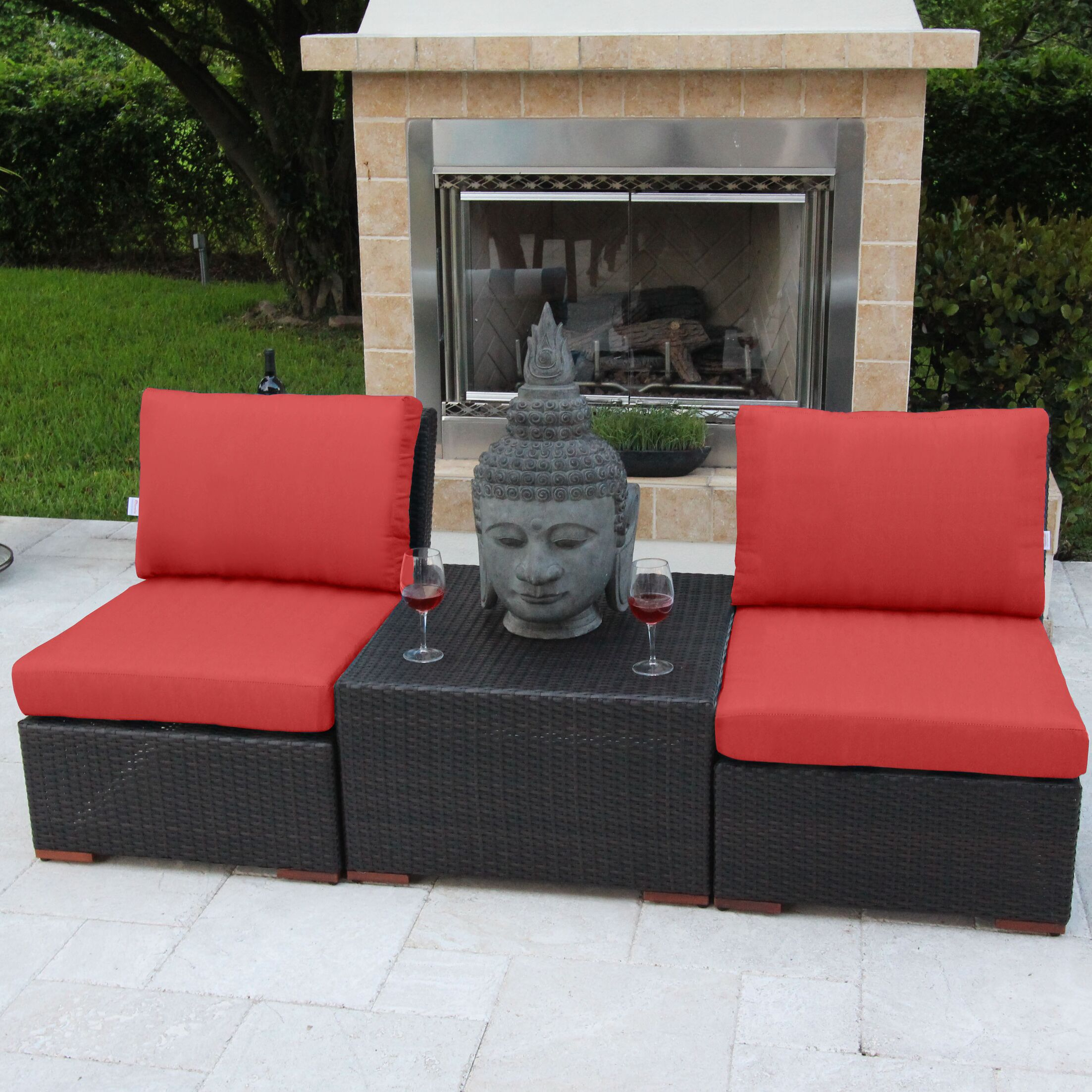 Marcelo 3 Piece Conversation Set with Cushions