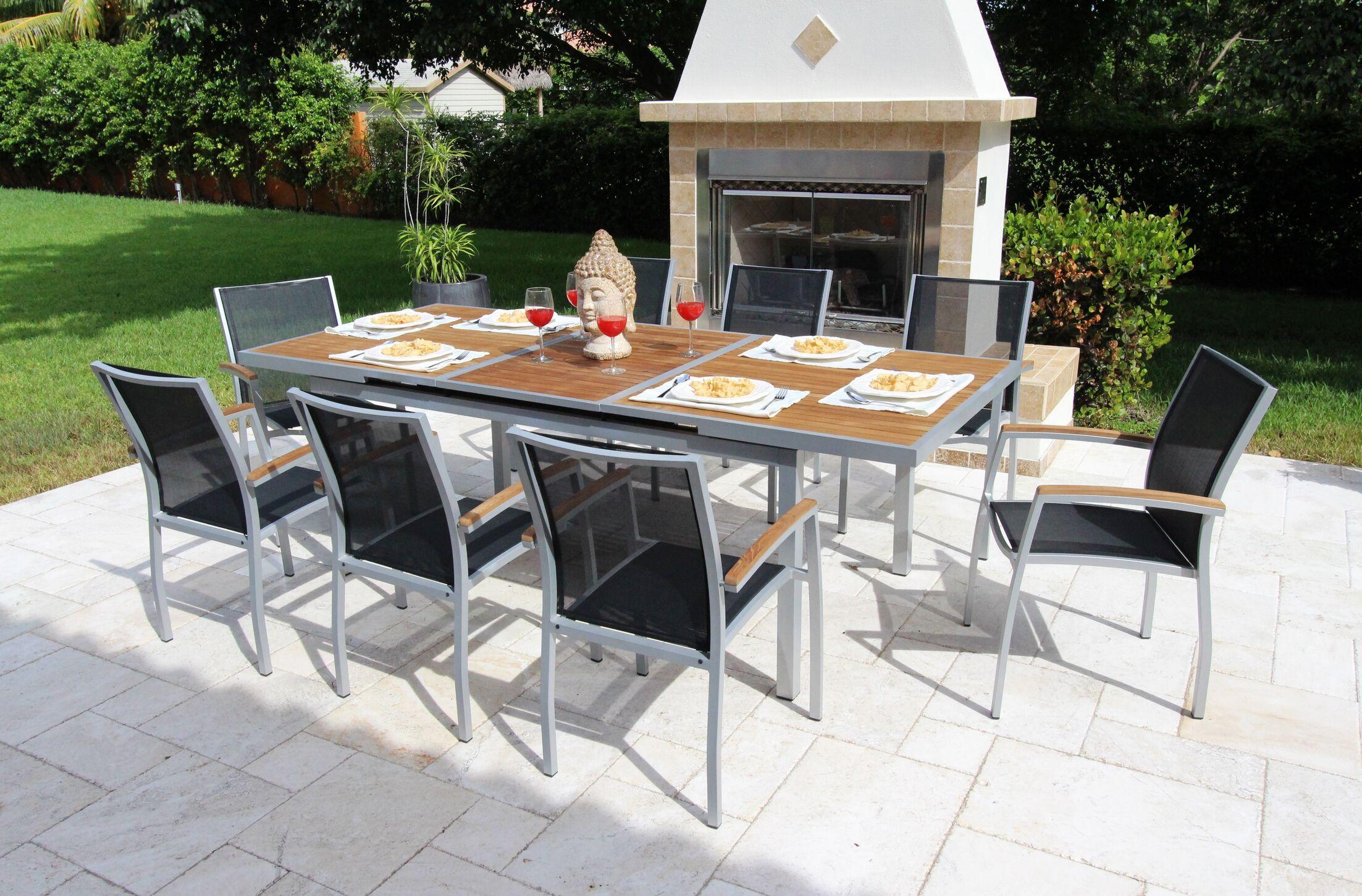 Galliano 9 Piece Teak Dining Set