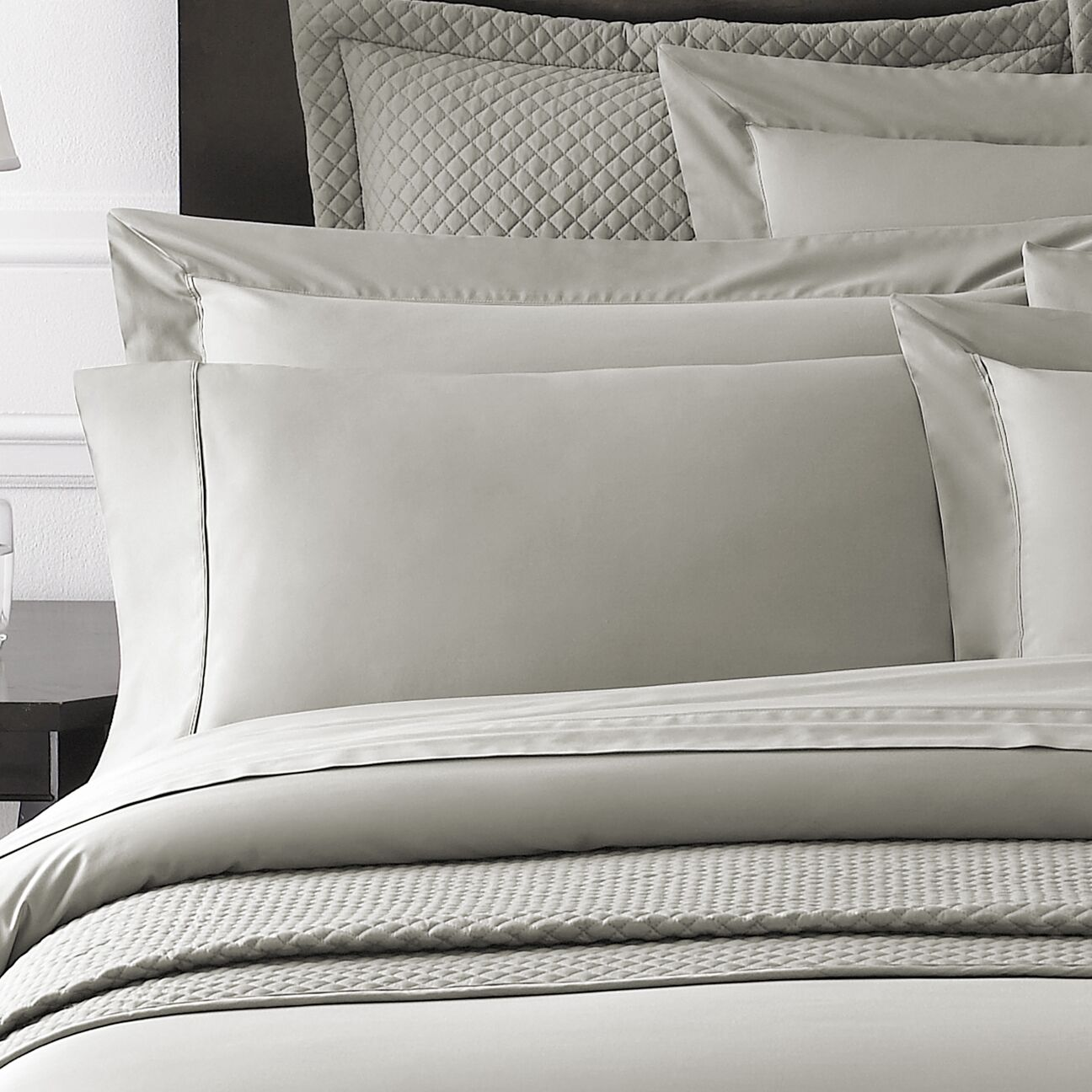 Rayon from Bamboo Sham Size: King, Color: Grey