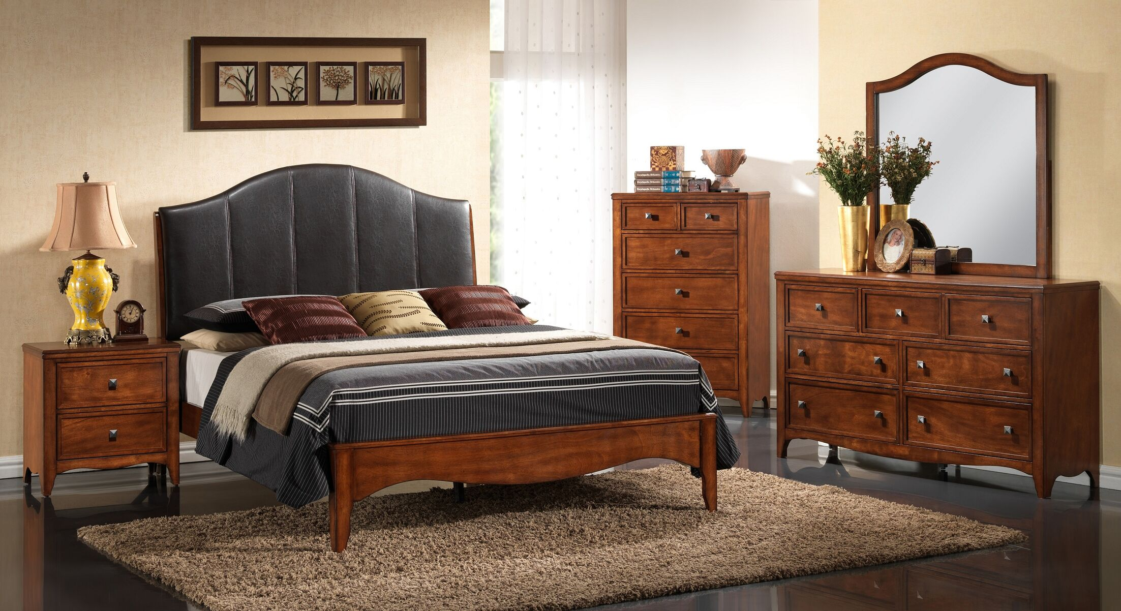 Auckland Queen Panel 5 Piece Bedroom set