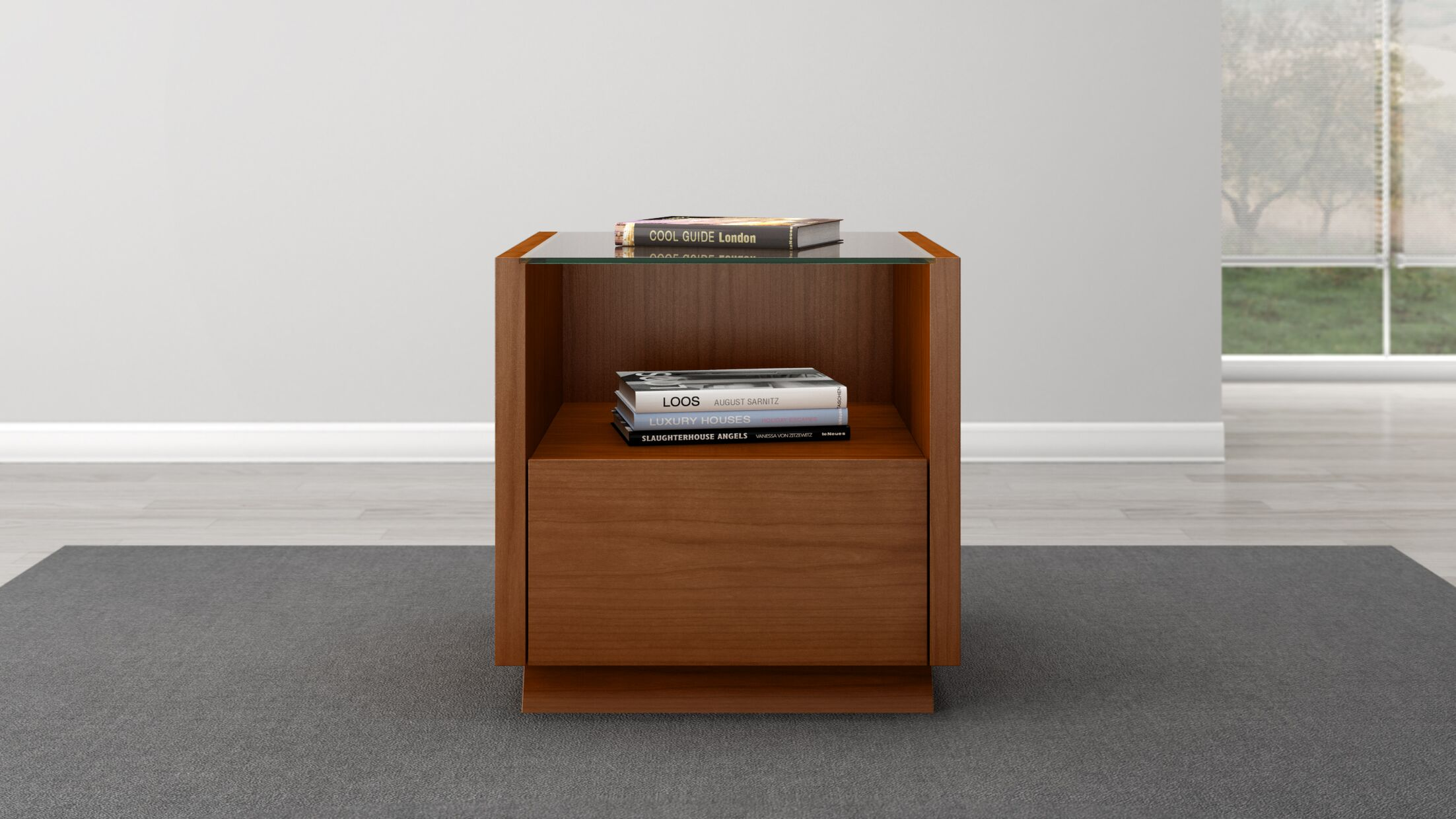 Contemporary End Table Color: Light Cherry