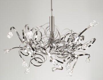 Ribbon 16-Light Sputnik Chandelier