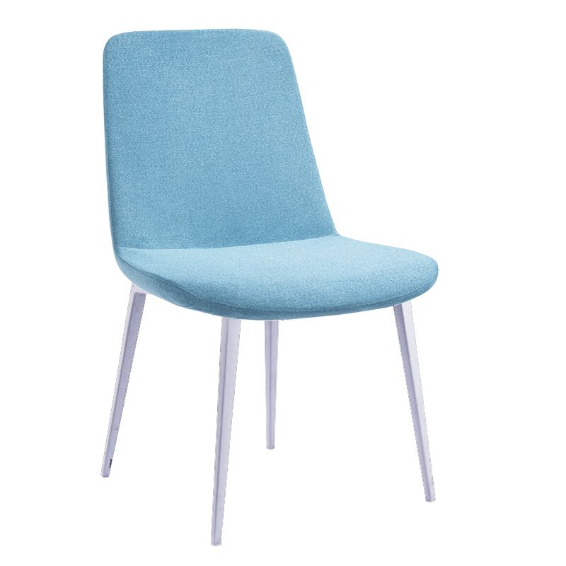 Roumfort Side Chair (Set of 2) Upholstery Color: Blue