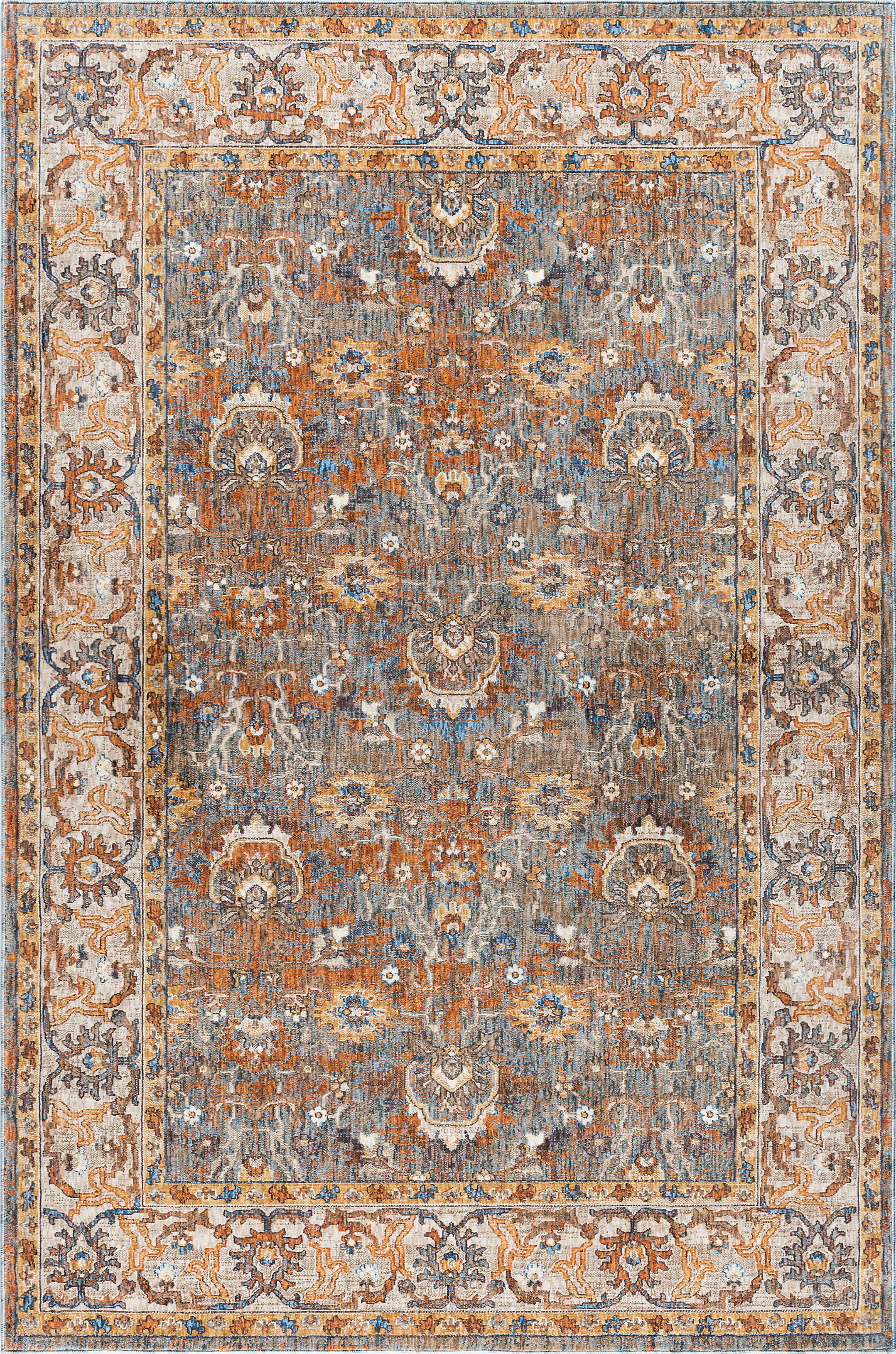 Matteson Traditional Orange Area Rug Rug Size: 5'3'' x 7'3''