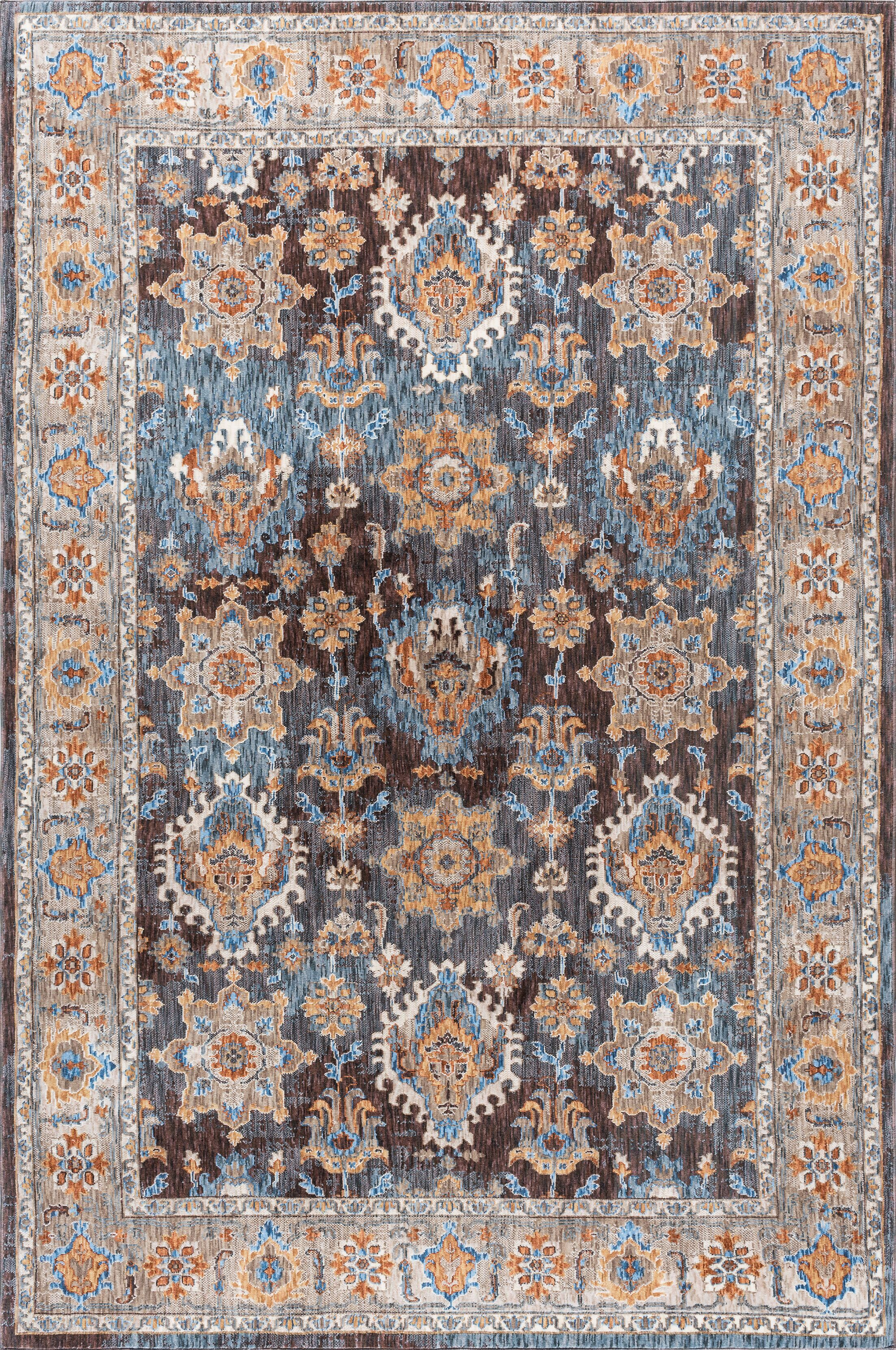 Matteson Traditional Brown/Blue Area Rug Rug Size: 5'3'' x 7'3''