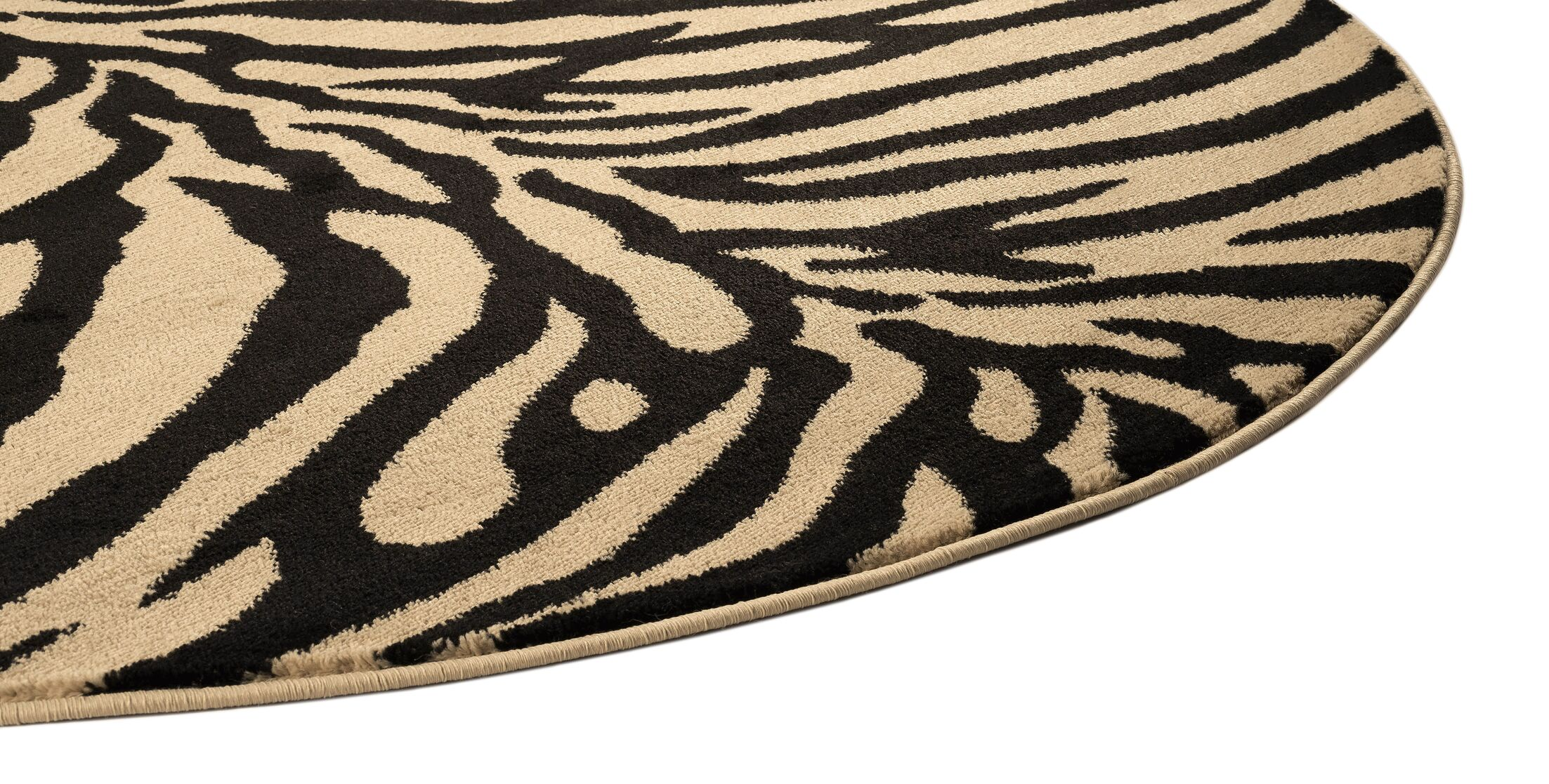 Pawling Beige 5 ft. 3 in. Round Transitional Area Rug