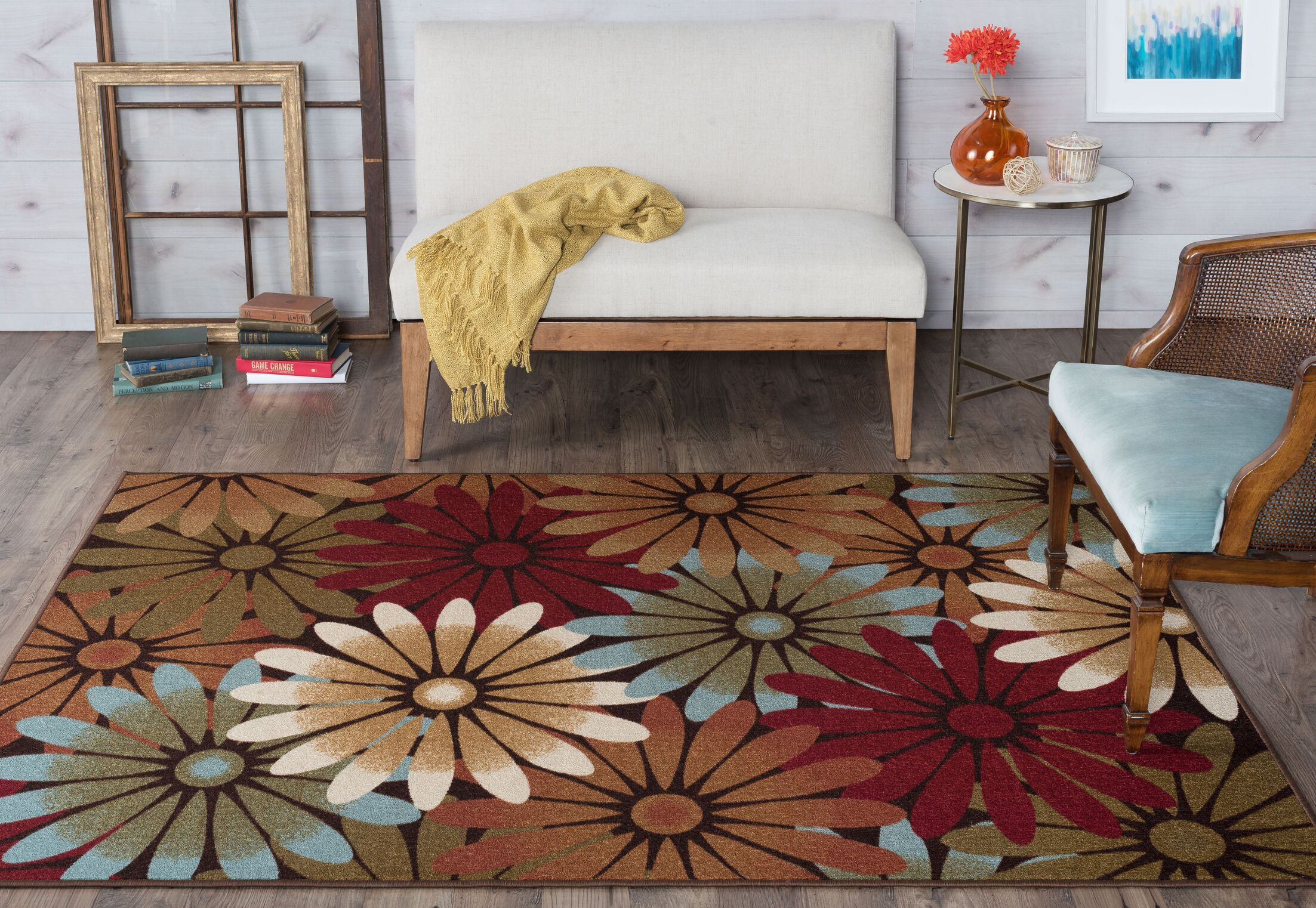 Hosking Red/Brown Area Rug Rug Size: 5' x 7'