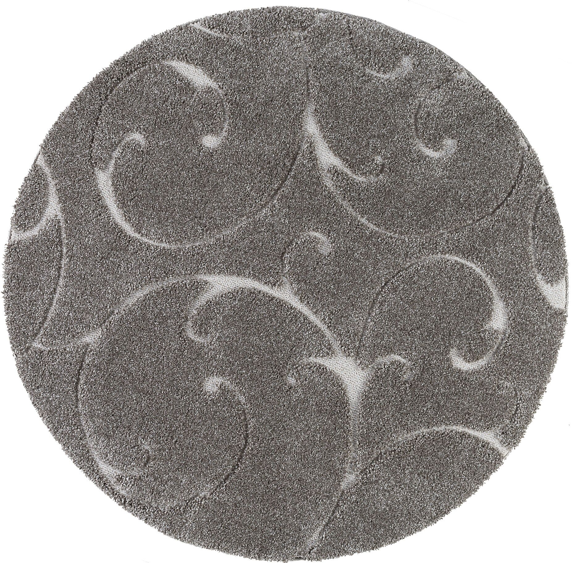 Edda Scrollwork Gray Area Rug Rug Size: Oval 6'7