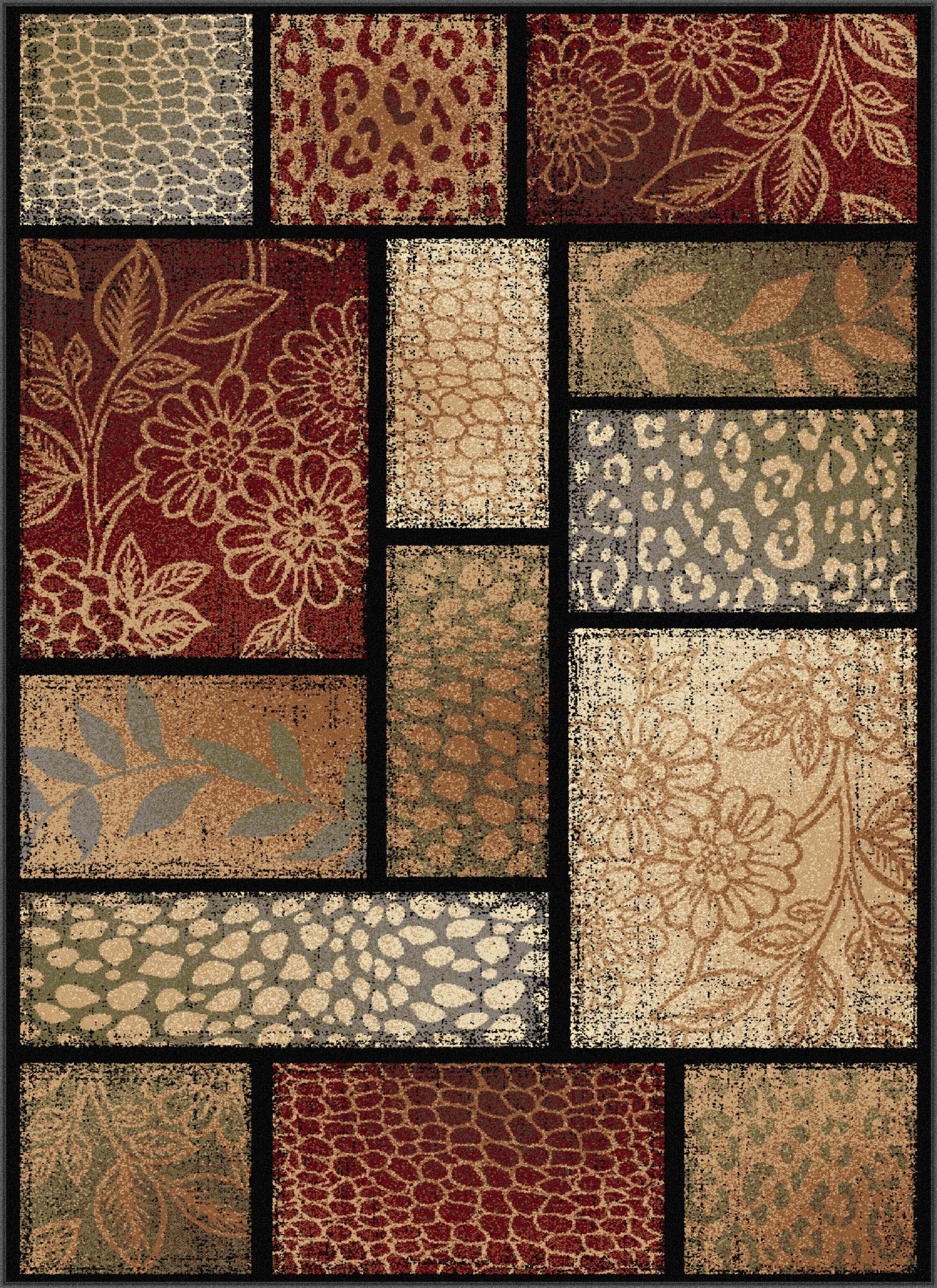 Lares Red Multi Nature Mix Rug Rug Size: 7'10'' x 10'3''