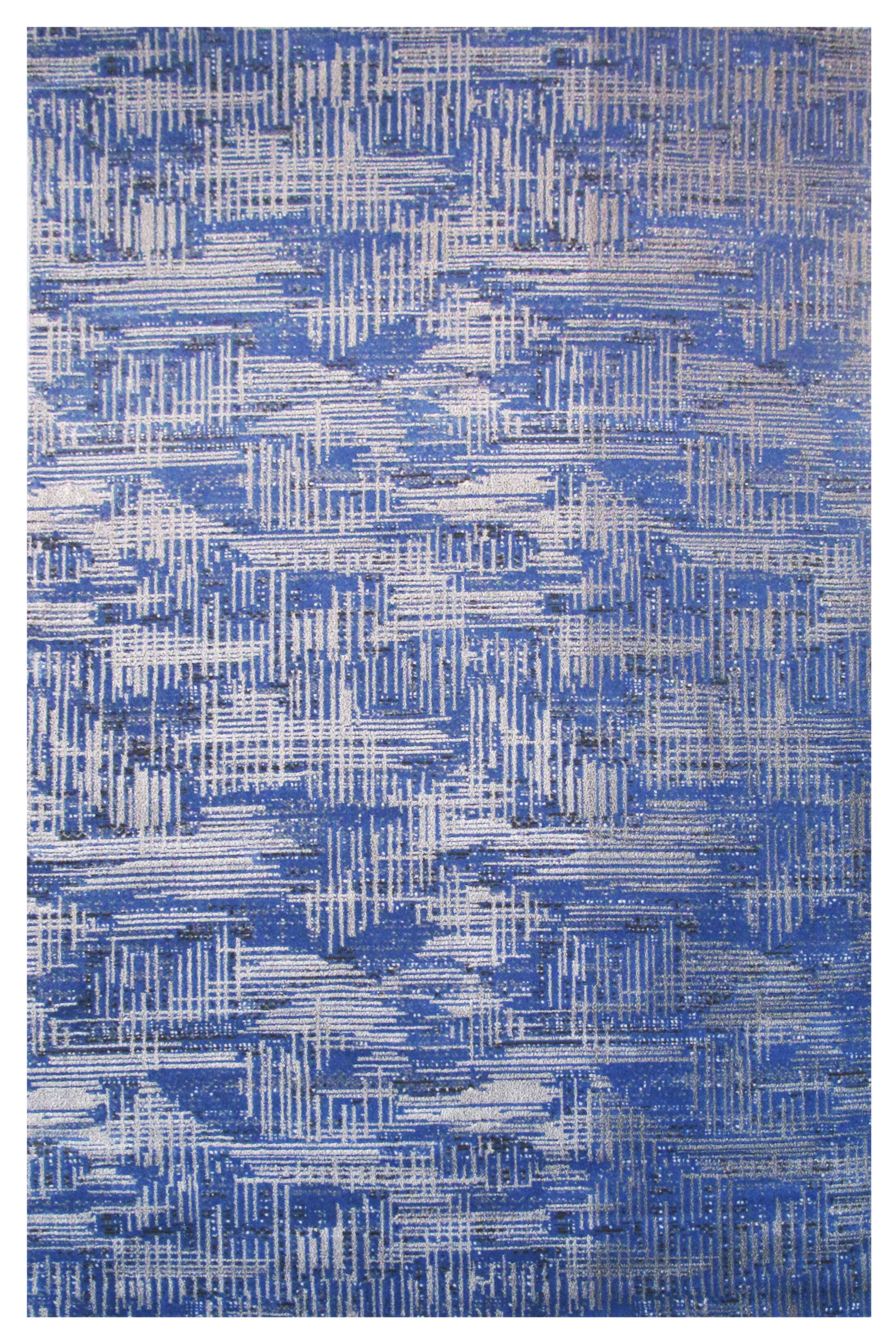 Aquarelle Blue Area Rug Rug Size: 5' x 8'