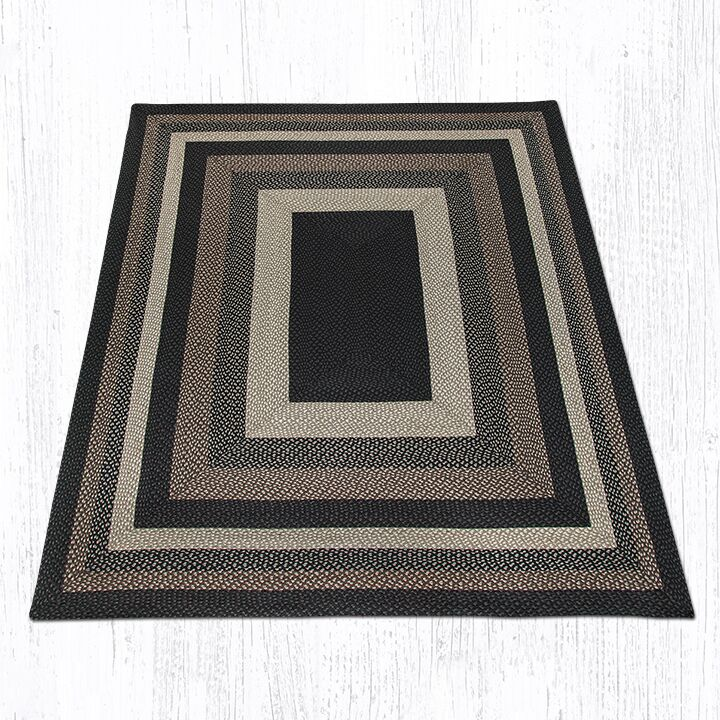 Mocha/Frappuccino Braided Area Rug Rug Size: Rectangle 8' x 10'