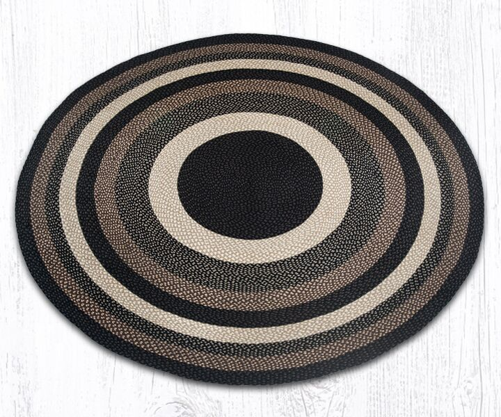 Braided Mocha/Frappuccino Area Rug Rug Size: Round 7'9
