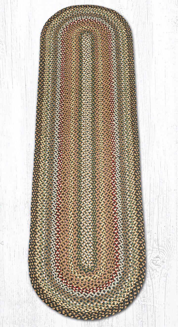 Kiefer Hand-Woven Brown/Gray Area Rug Rug Size: Oval 2' x 8'