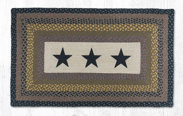 Black Stars Printed Area Rug Rug Size: Rectangle 2'3