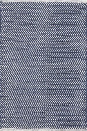 Herringbone Hand Woven Indigo Area Rug Rug Size: Runner 2'6