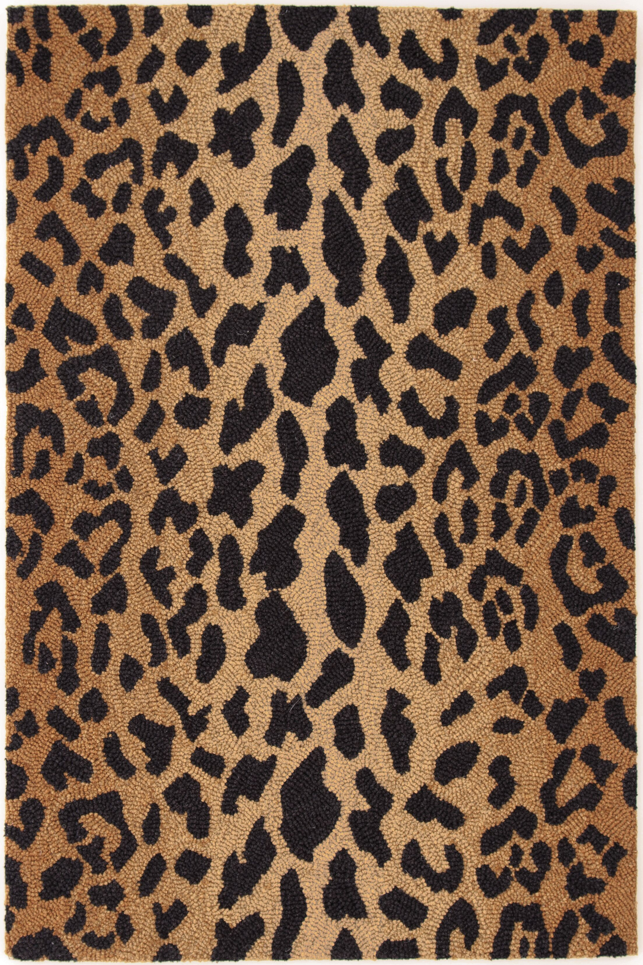 Hooked Brown/Black Area Rug Rug Size: Rectangle 5' x 8'