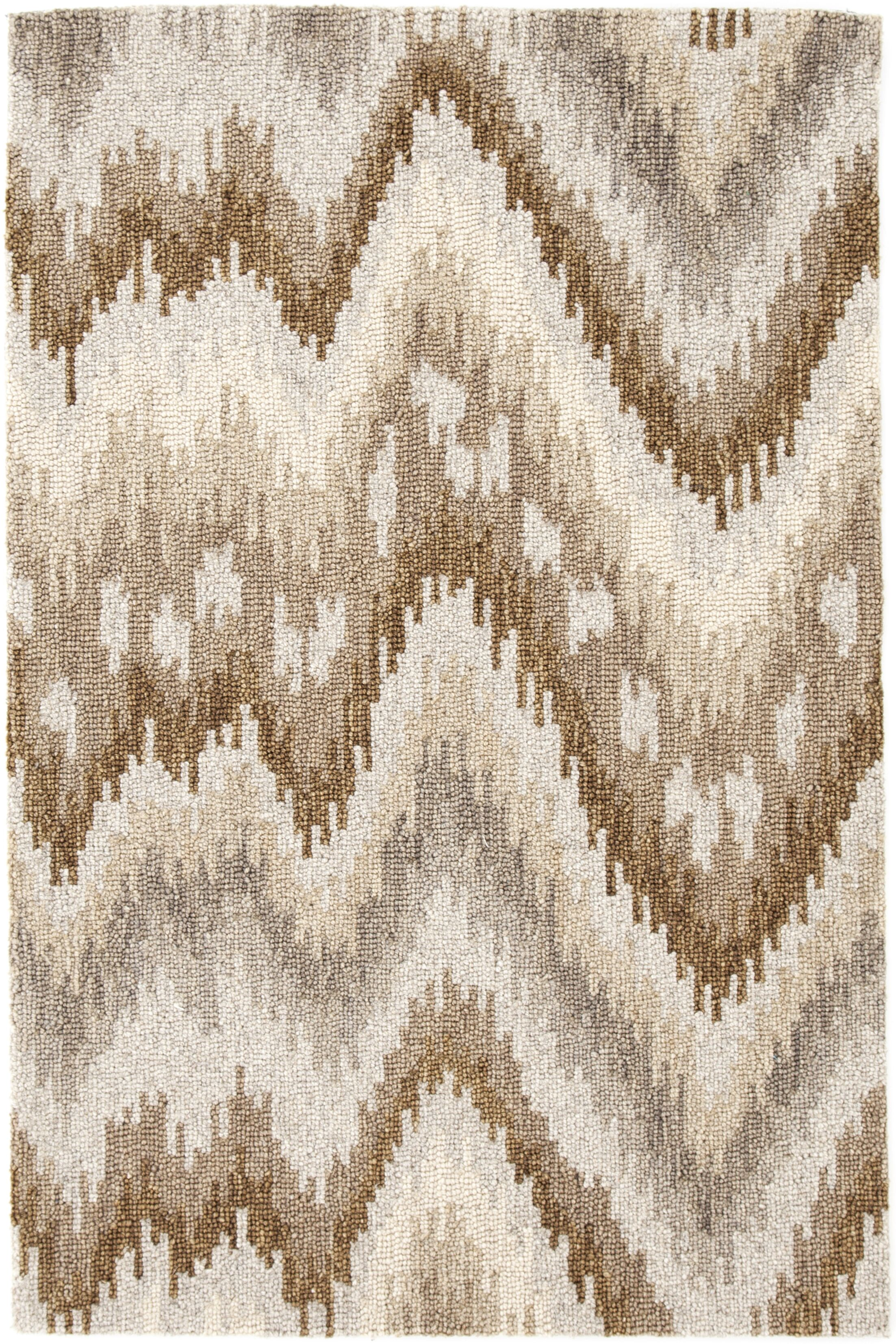 Hooked Beige Area Rug Rug Size: Rectangle 8' x 10'