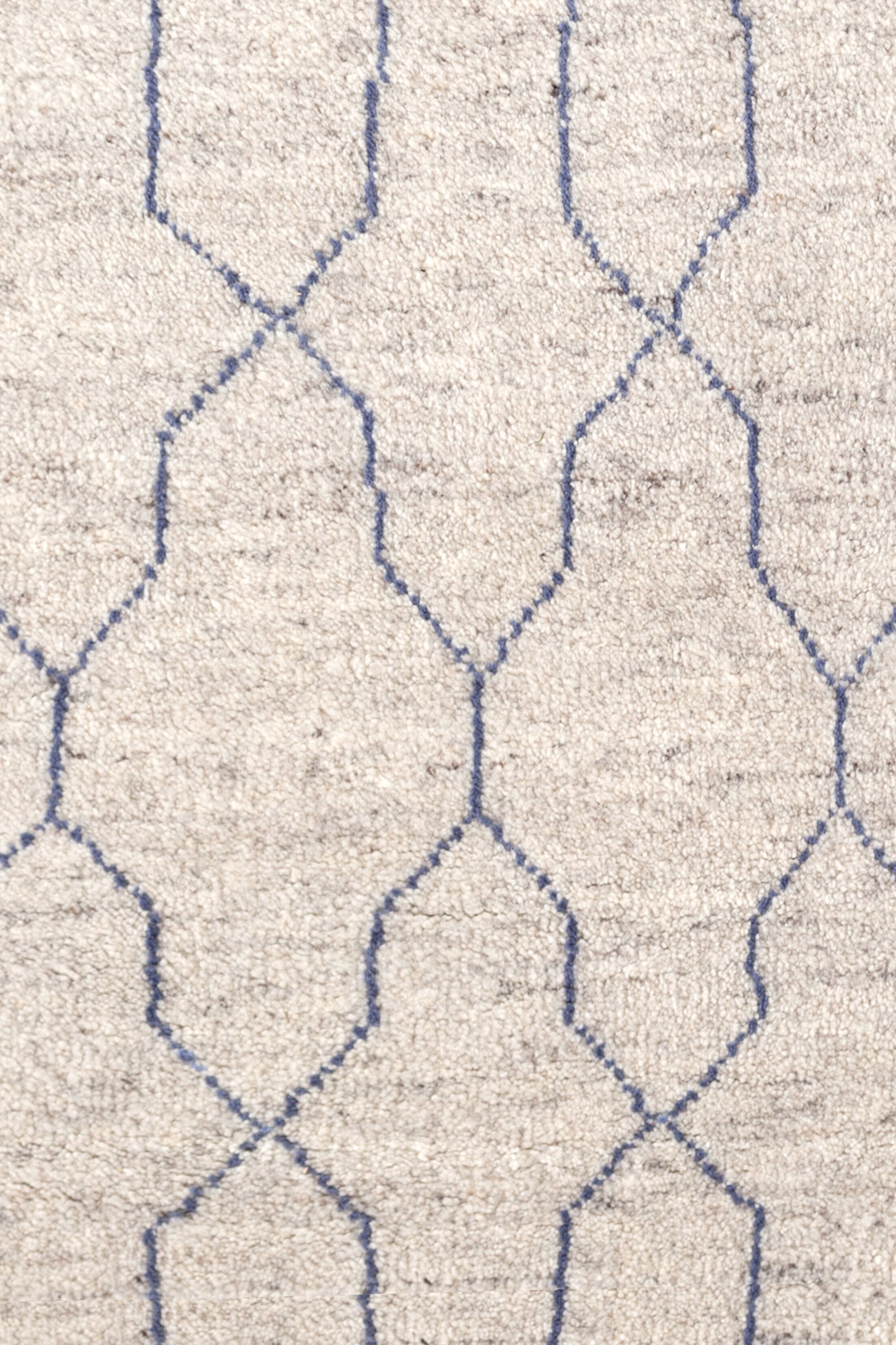 Hand Knotted Beige Area Rug Rug Size: Rectangle 8' x 10'