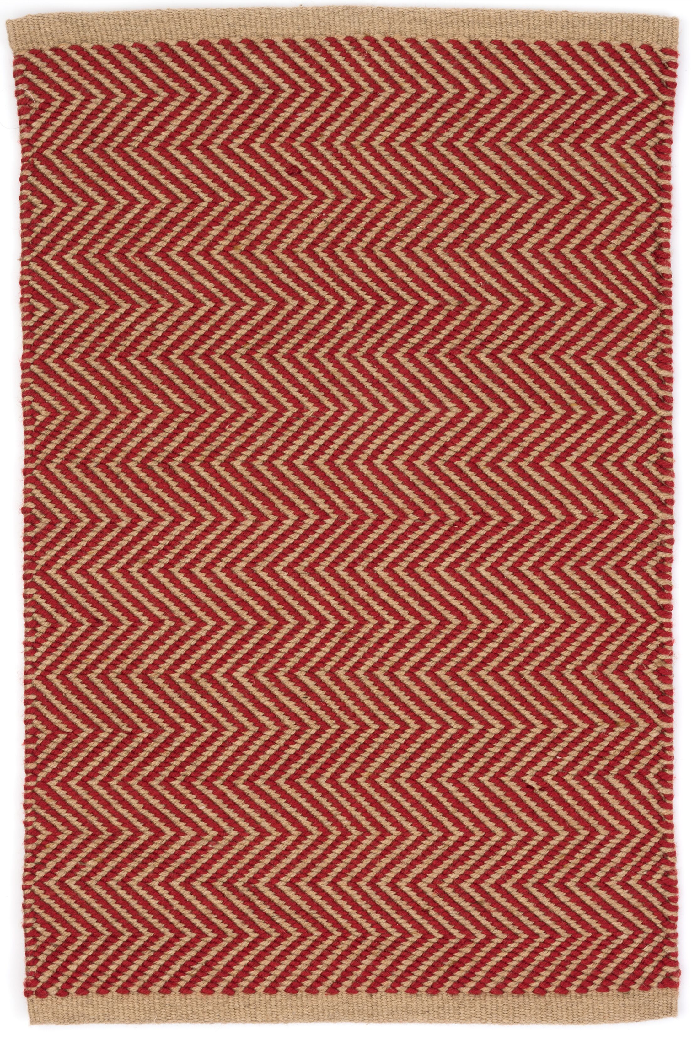 Arlington Hand-Woven Red Indoor/Outdoor Area Rug Rug Size: Rectangle 2' x 3'