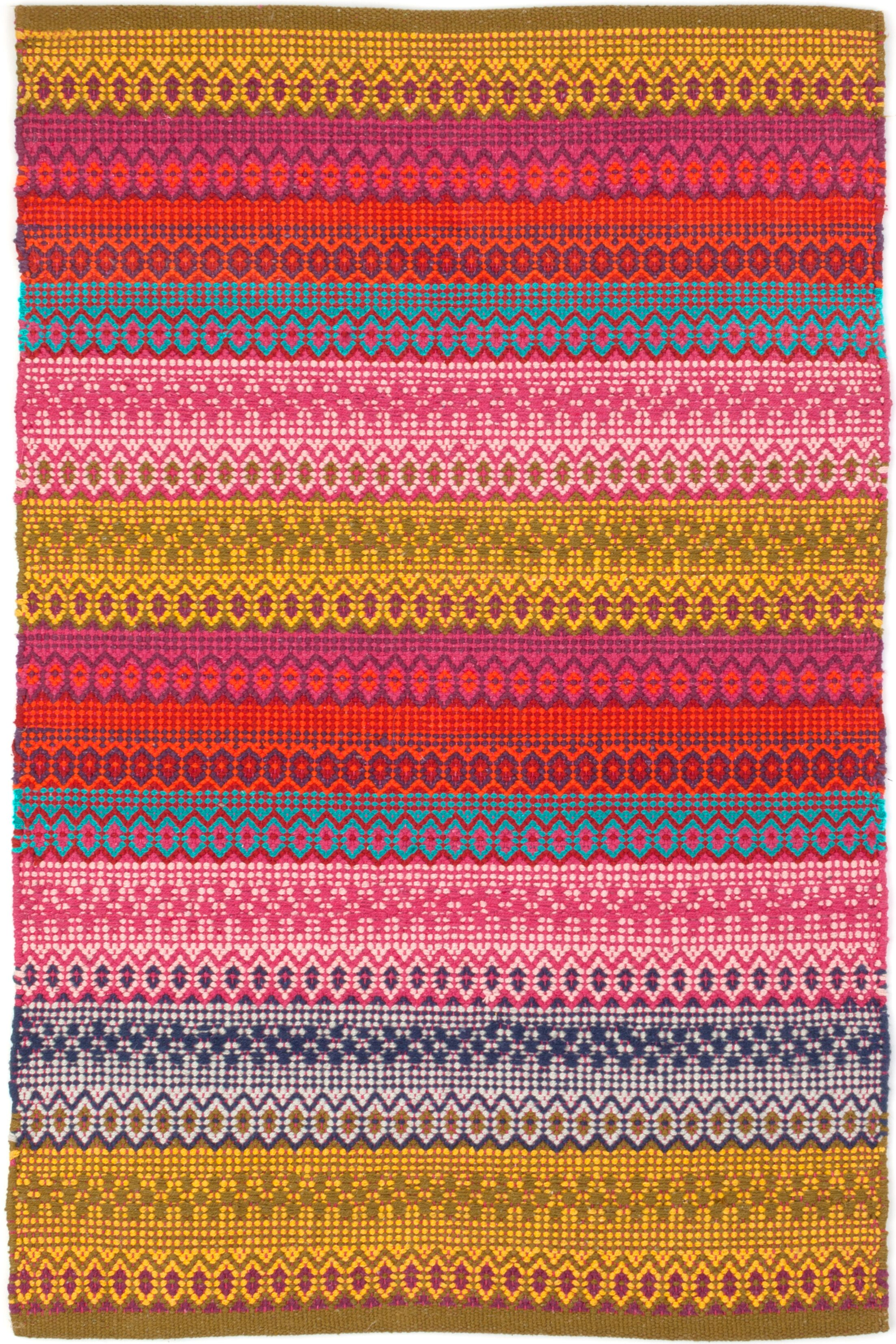 Gypsy Hand Woven Area Rug Rug Size: Rectangle 4' x 6'