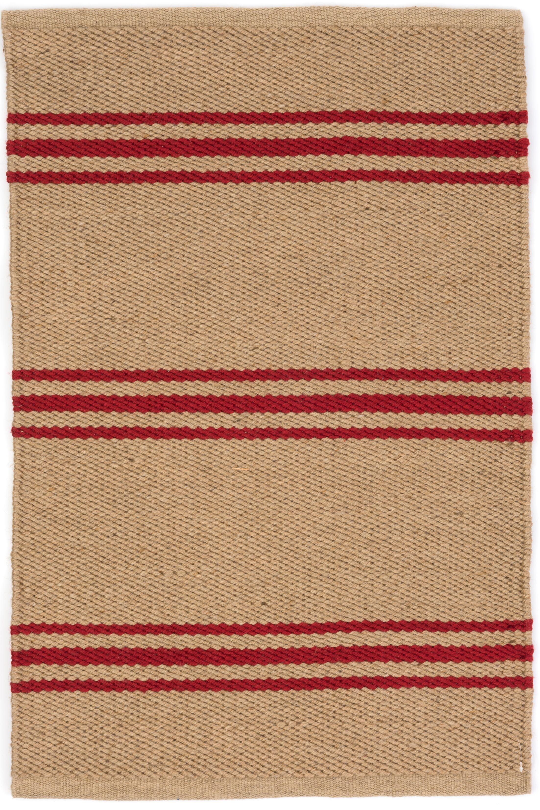 Lexington Hand Woven Red/Beige Indoor/Outdoor Area Rug Rug Size: Runner 2'6