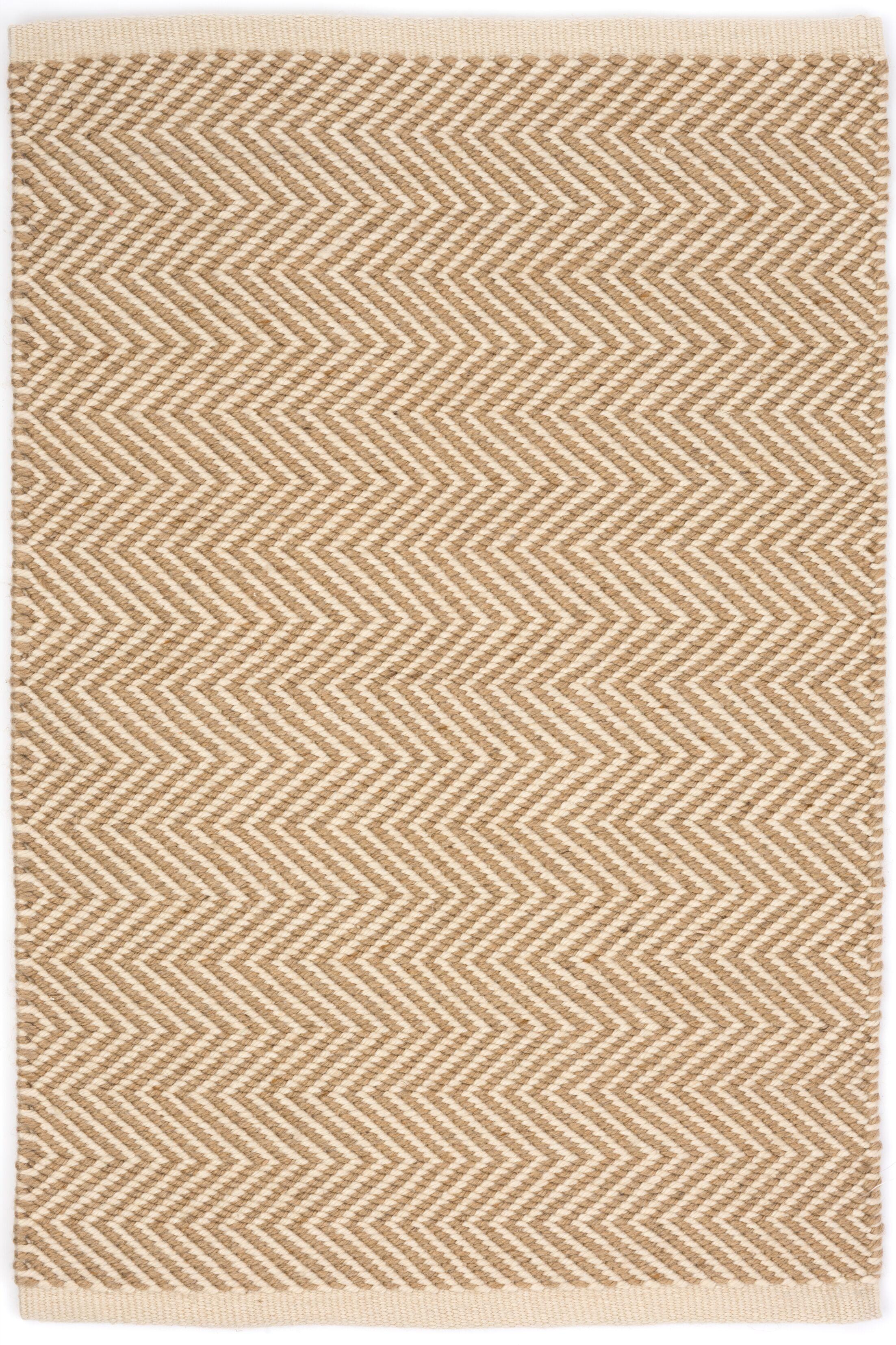Arlington Hand Woven Beige Indoor/Outdoor Area Rug Rug Size: Rectangle 5' x 8'