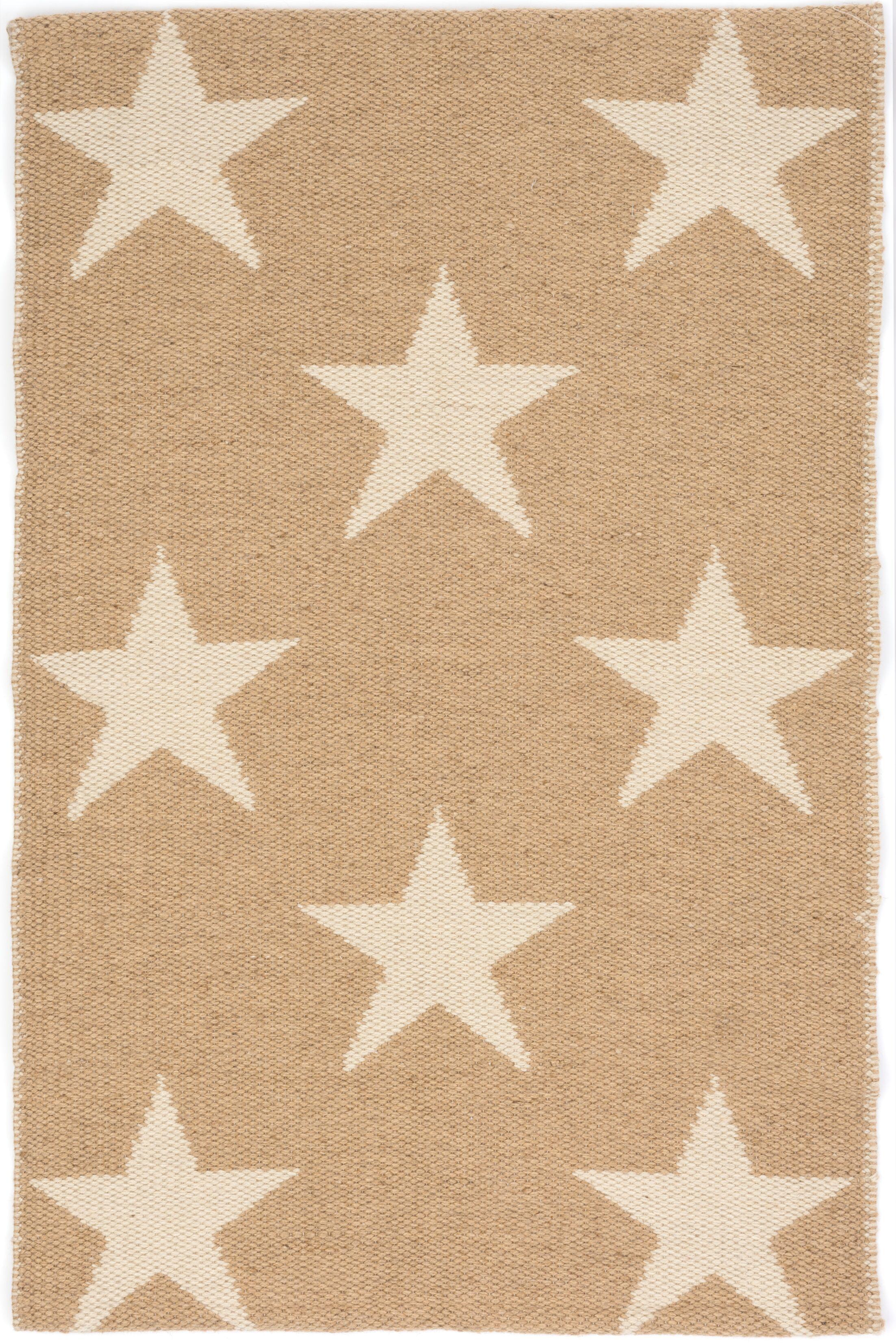 Star Hand Woven Beige/White Indoor/Outdoor Area Rug Rug Size: Rectangle 8' x 10'