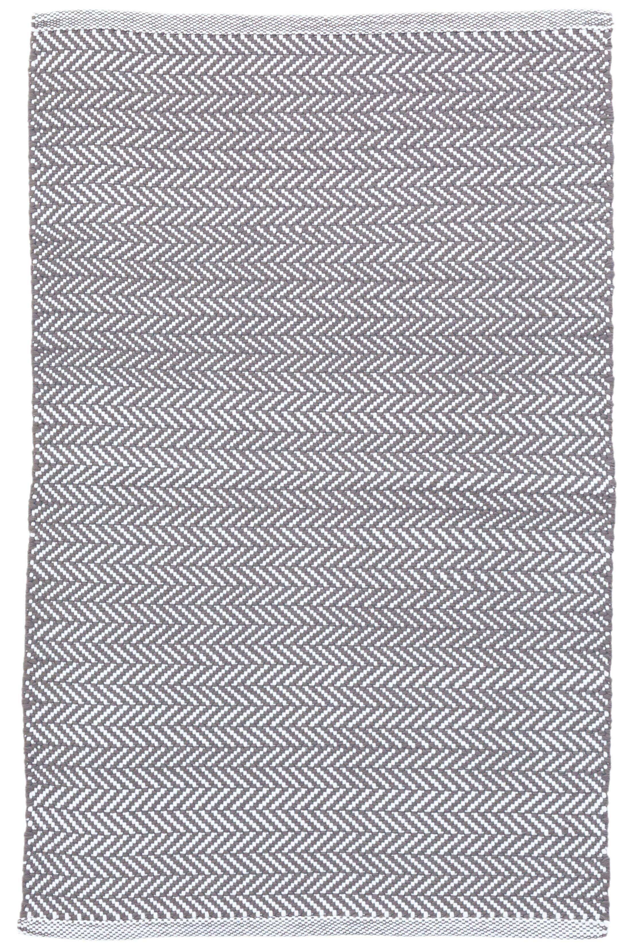 C3 Herringbone Gray Indoor/Outdoor Area Rug Rug Size: 8'6