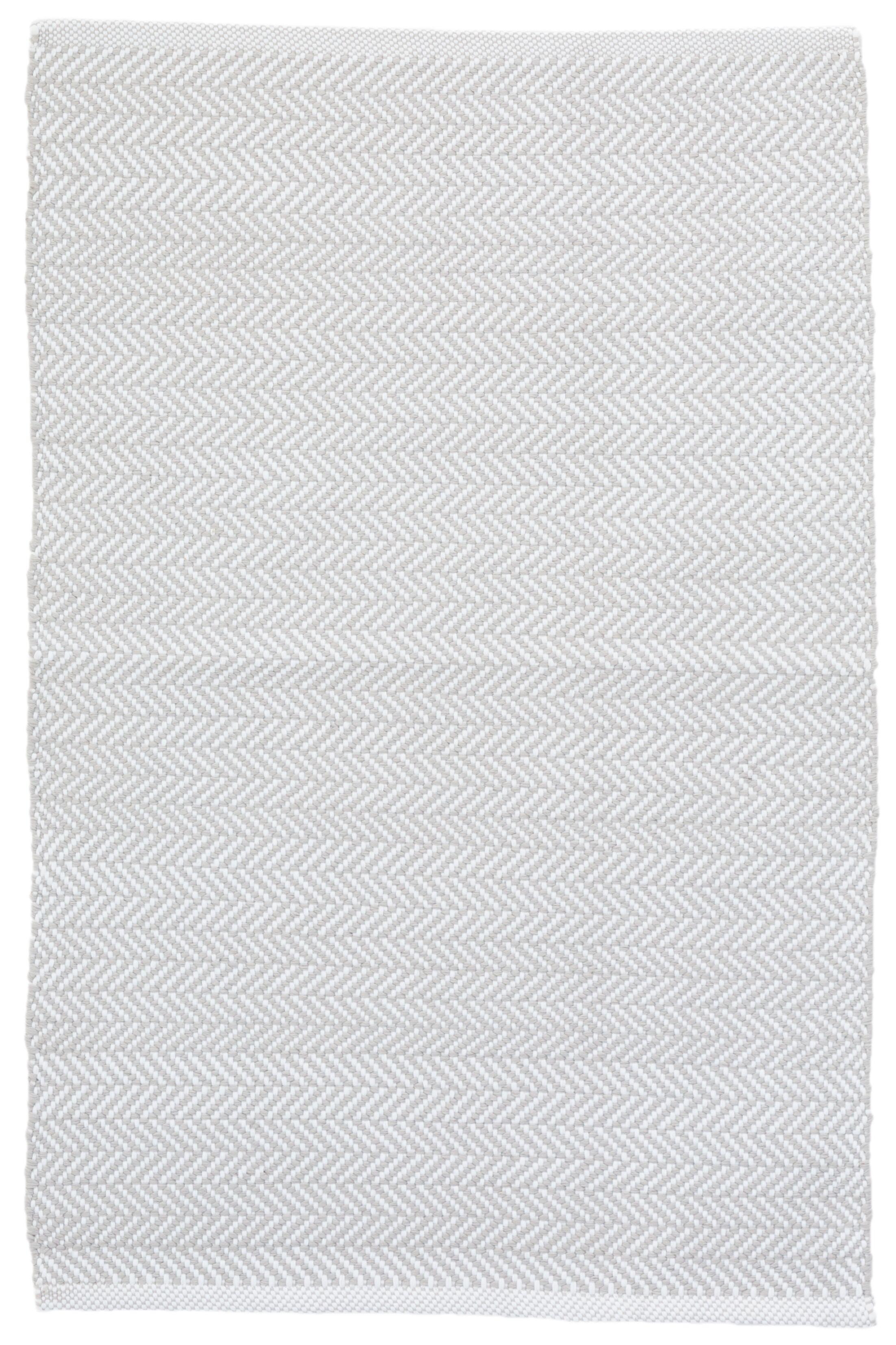C3 Herringbone Gray Indoor/Outdoor Area Rug Rug Size: 4' x 6'