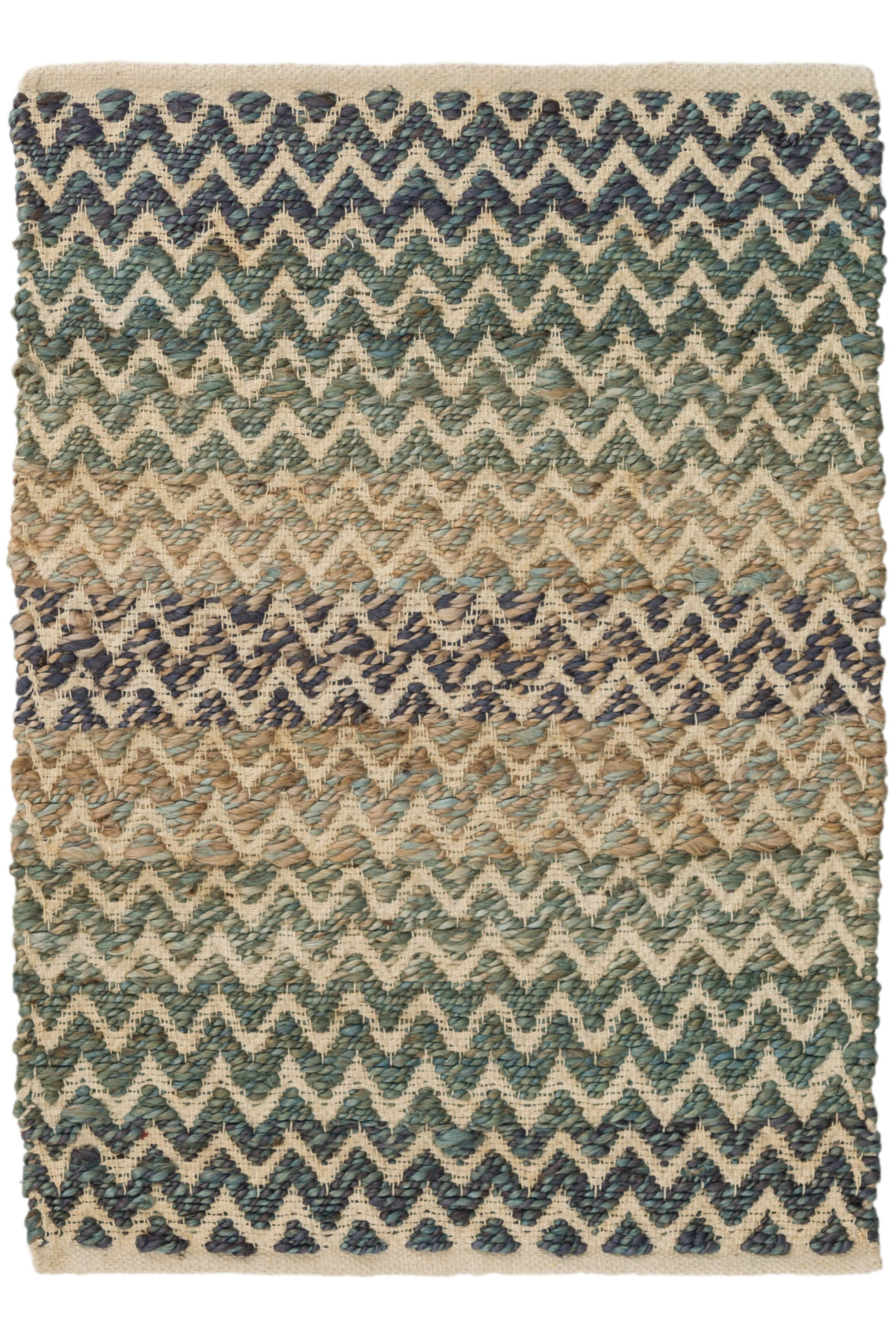 Green/Blue Area Rug Rug Size: 3' x 5'
