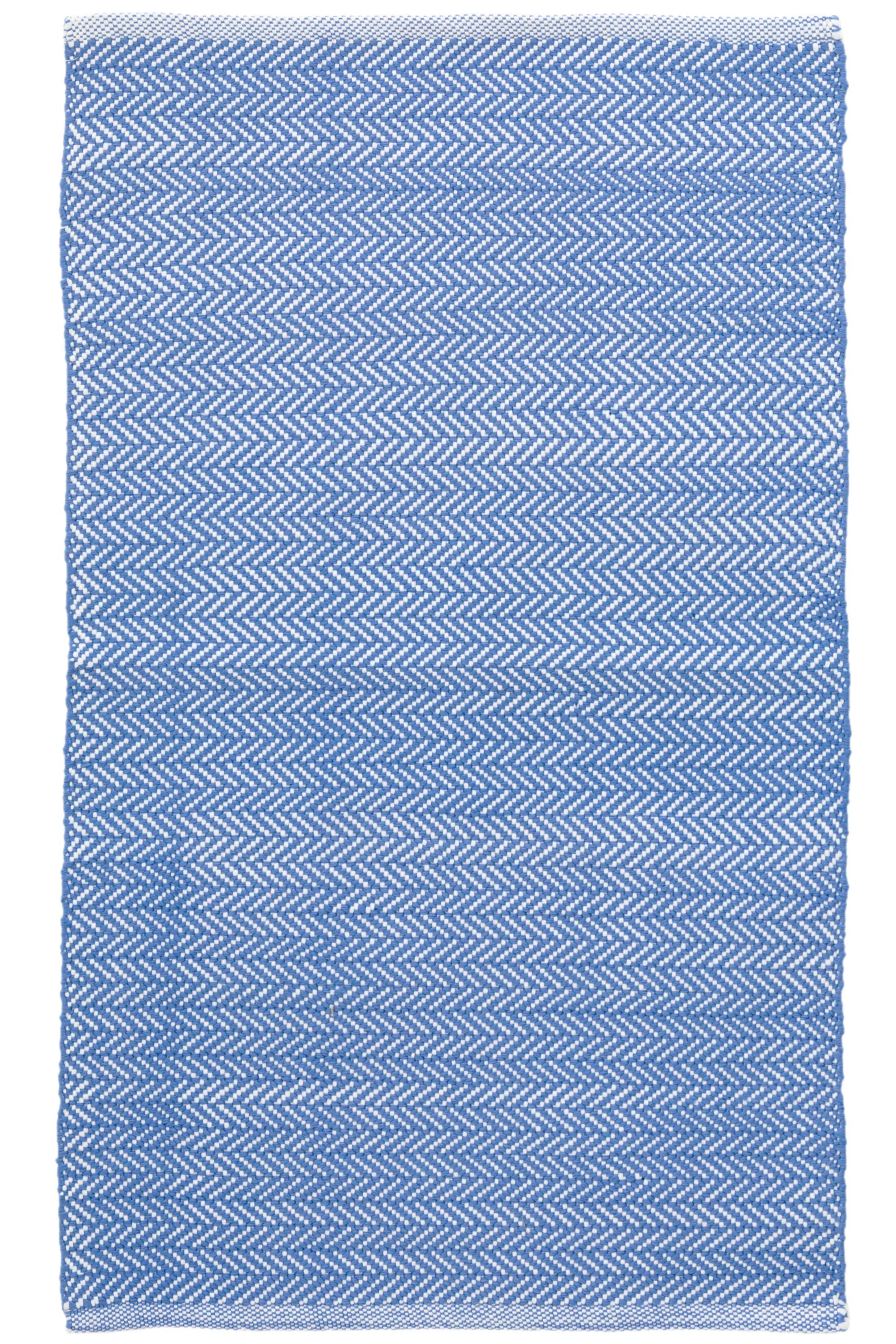 C3 Herringbone Blue Indoor/Outdoor Area Rug Rug Size: 4' x 6'