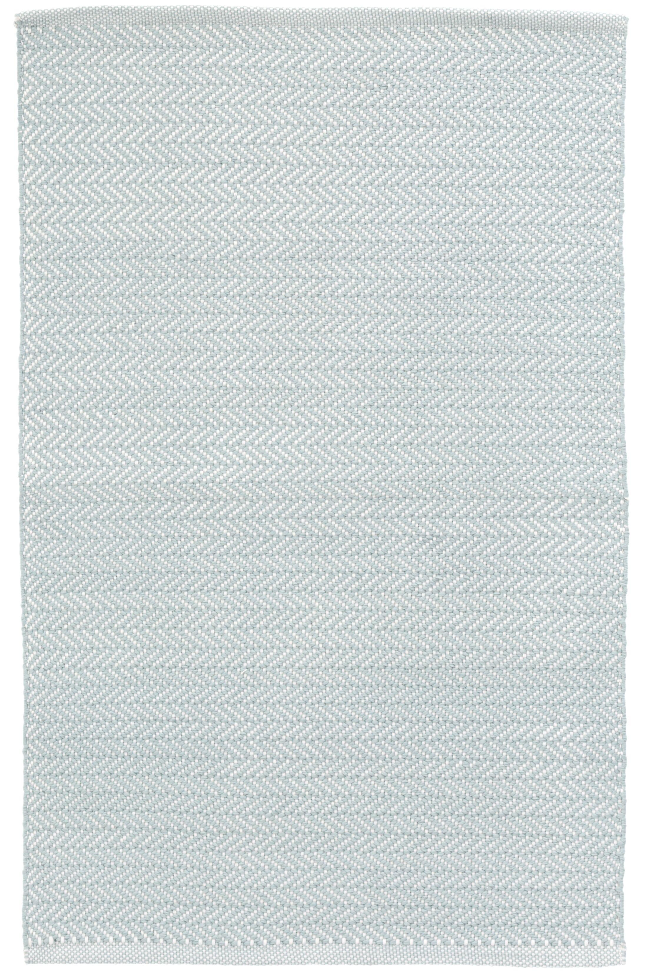 Herringbone Blue/White Indoor/Outdoor Area Rug Rug Size: Runner 2'6