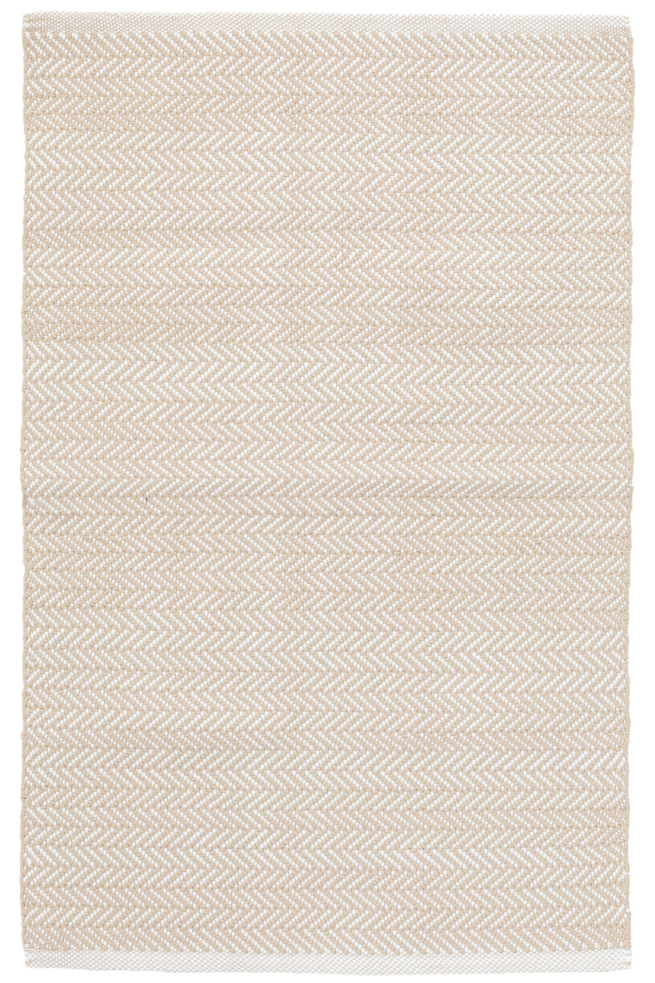 C3 Herringbone White Indoor/Outdoor Area Rug Rug Size: 4' x 6'