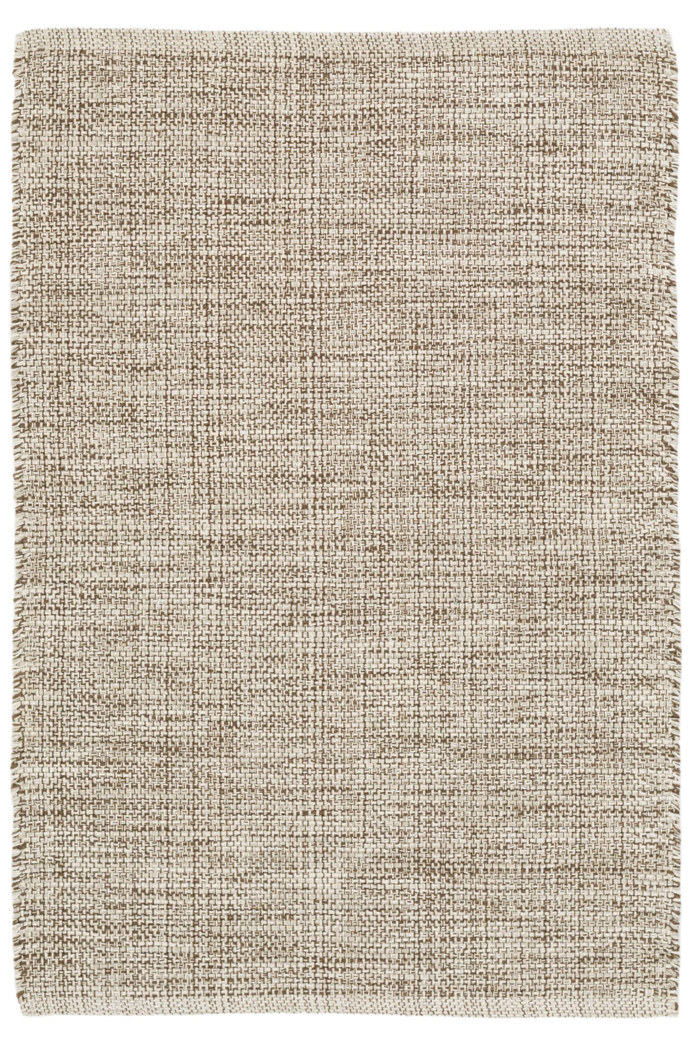 Marled Brown/Beige Area Rug Rug Size: 4' x 6'