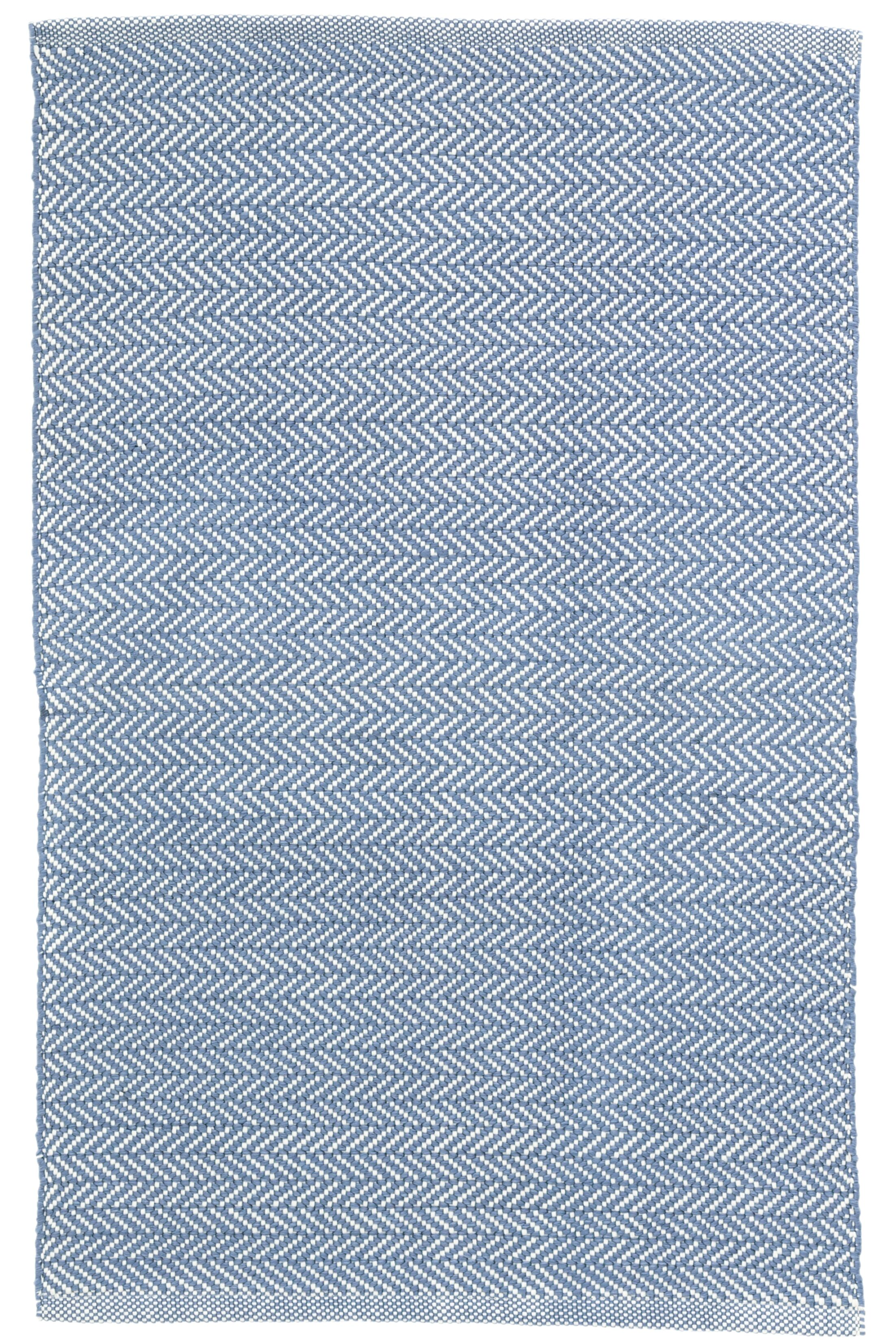 Herringbone Denim Blue Indoor/Outdoor Area Rug Rug Size: 3' x 5'