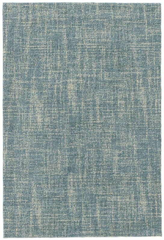 Crosshatch Micro Hand- Hooked Wool Blue Area Rug Rug Size: 8' x 10'