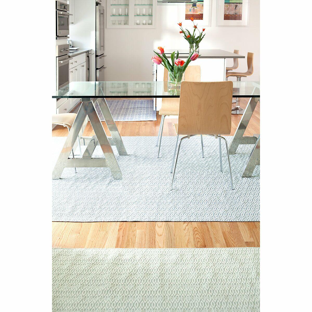 Fair Isle Hand Woven Blue/White Area Rug Rug Size: 6' x 9'