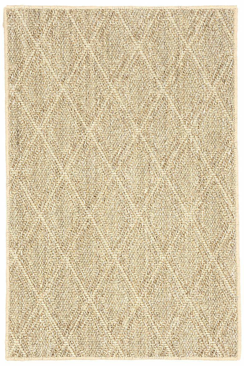 Sisal Diamond Sand Area Rug Rug Size: 2'5