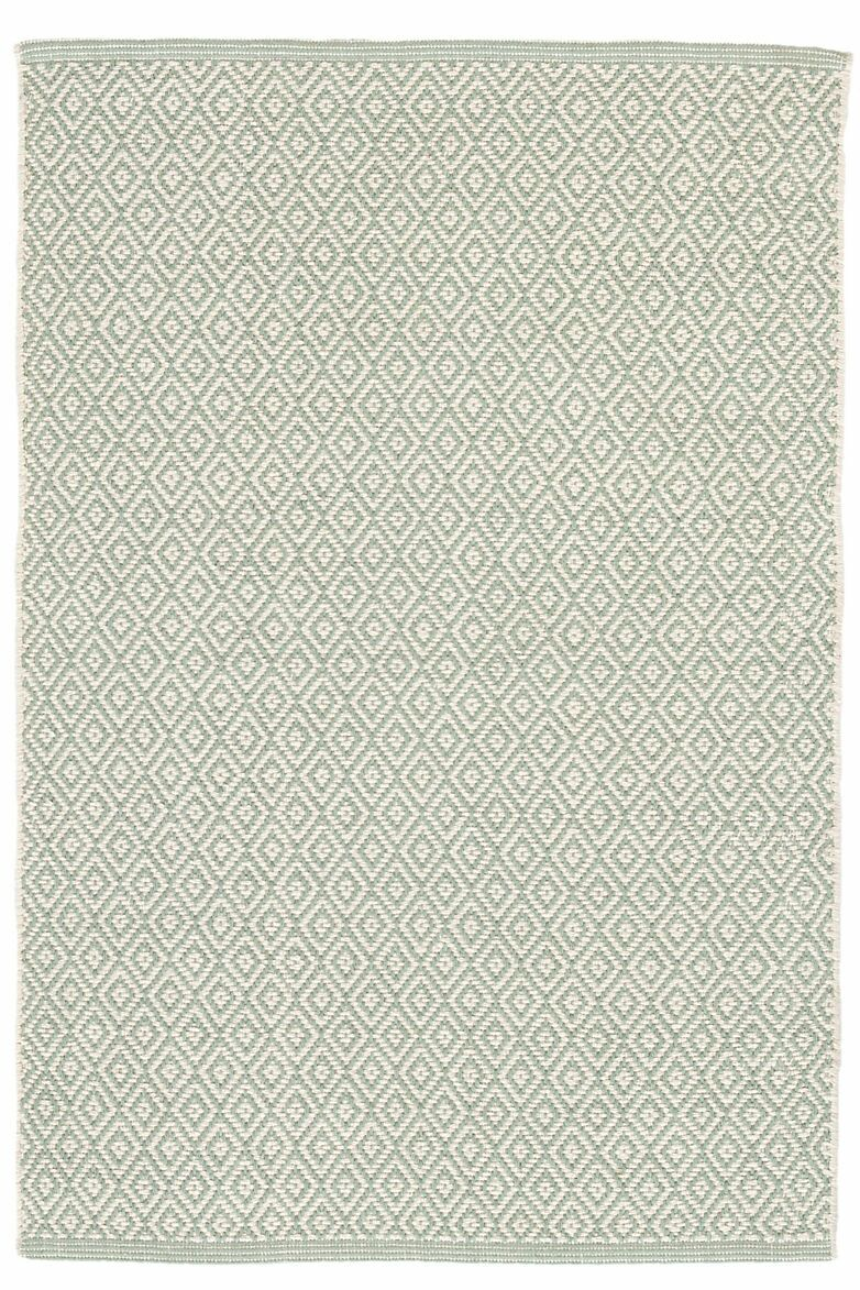 Lattice Cotton Ocean Area Rug Rug Size: 6' x 9'